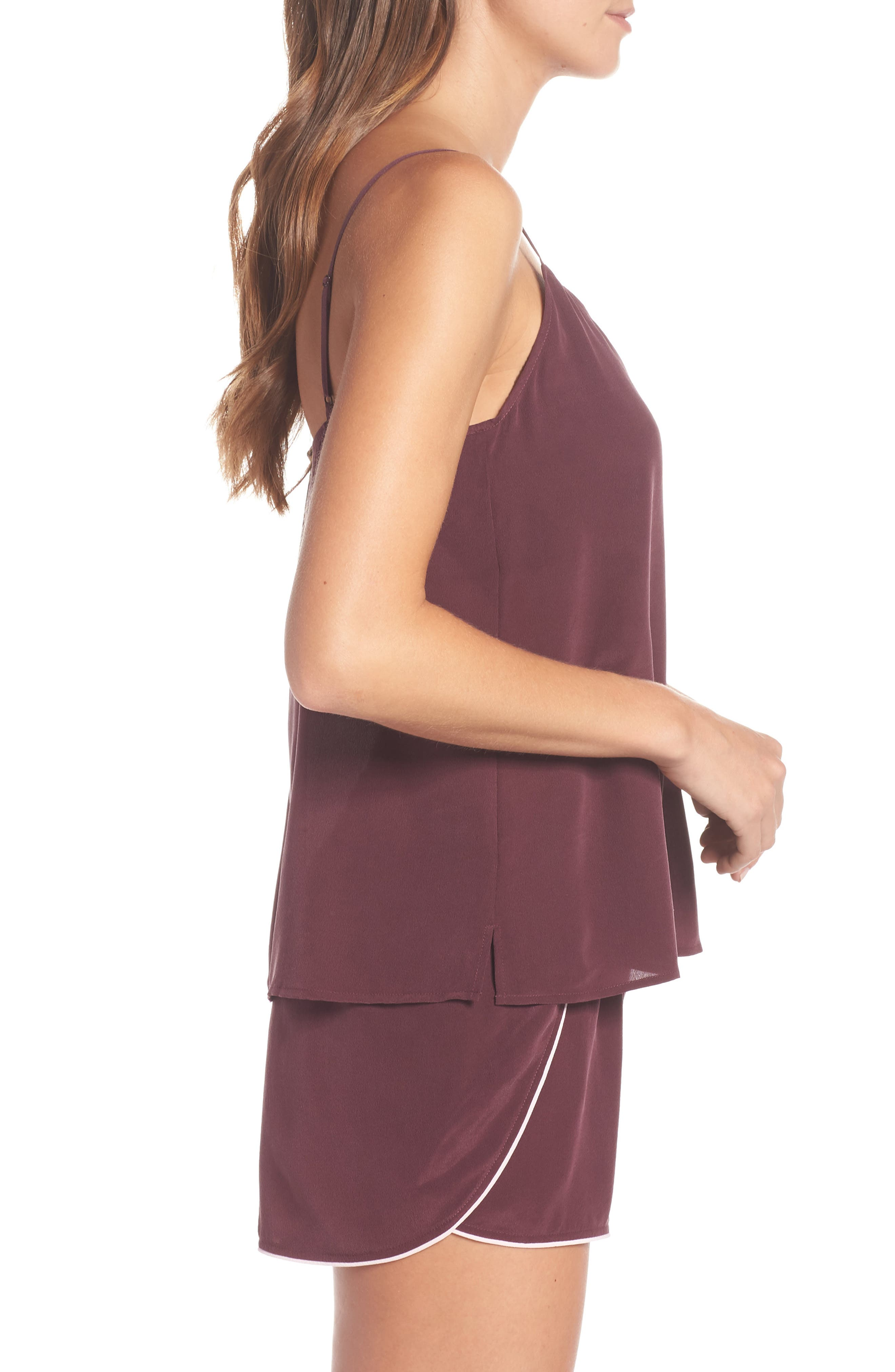 UGG<SUP>®</SUP>, Vita Silk Camisole, Alternate thumbnail 3, color, PORT