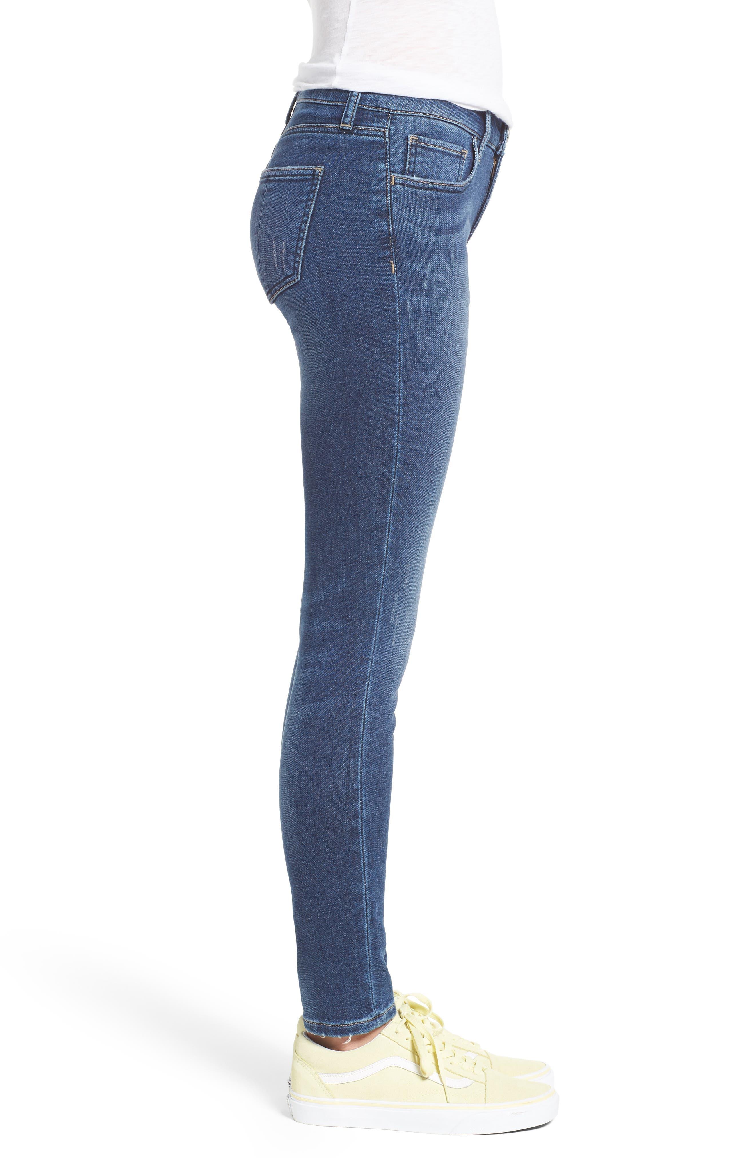 PROSPERITY DENIM, Skinny Jeans, Alternate thumbnail 3, color, DARK