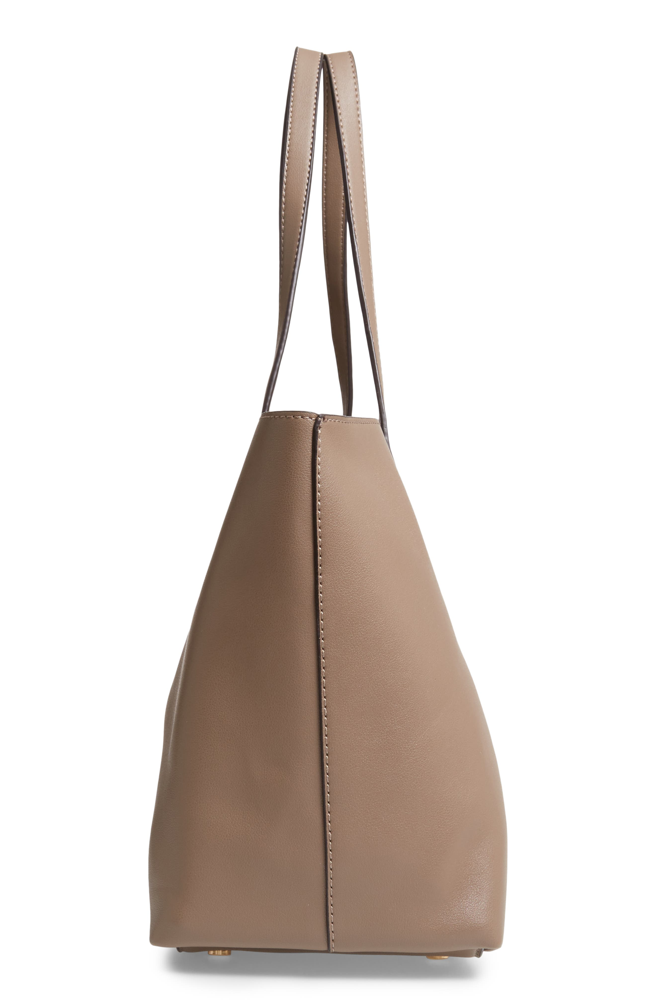 SOLE SOCIETY, Zeda Faux Leather Tote, Alternate thumbnail 6, color, TAUPE