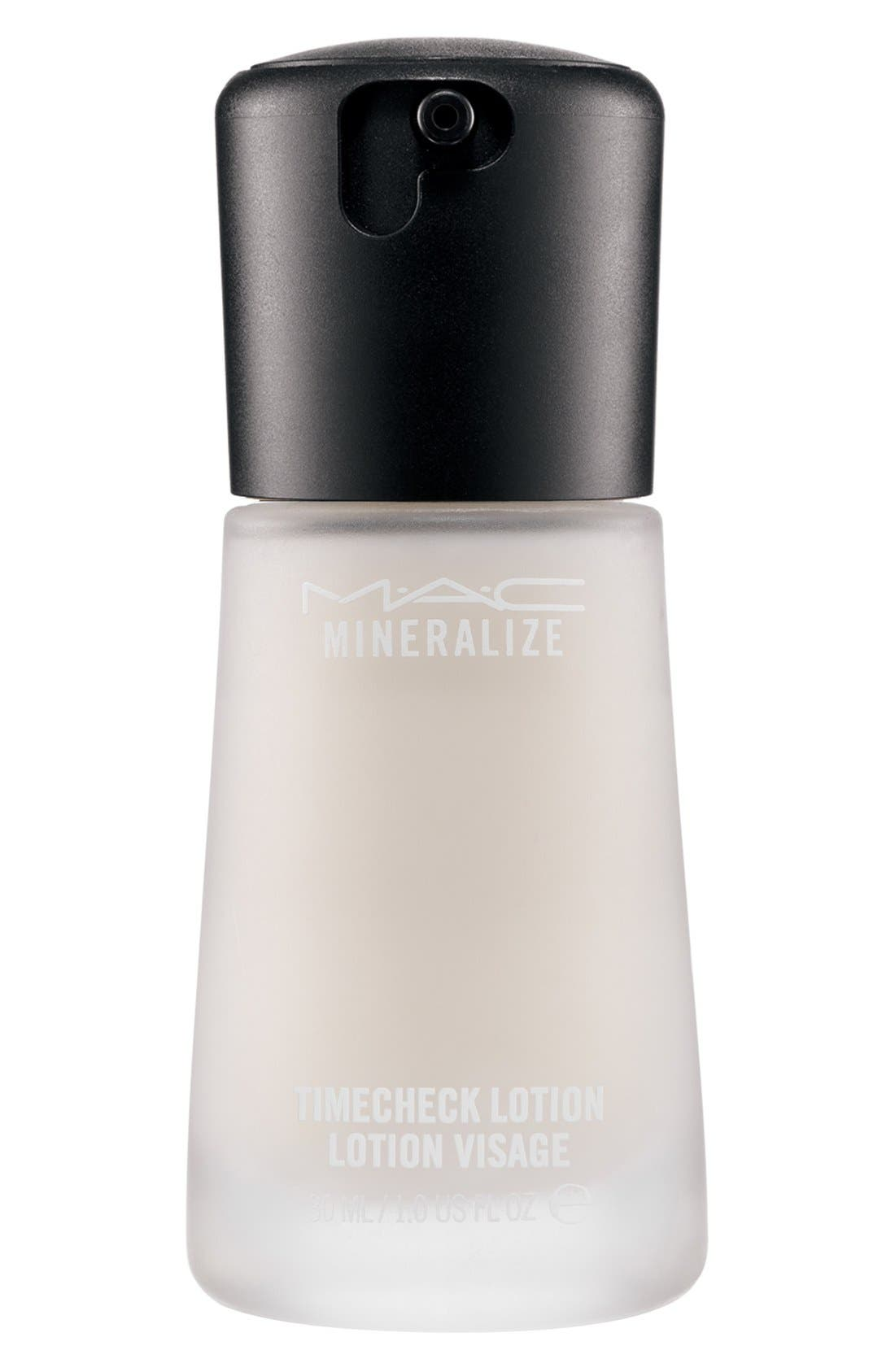 MAC COSMETICS, MAC Mineralize Timecheck Lotion, Main thumbnail 1, color, NO COLOR
