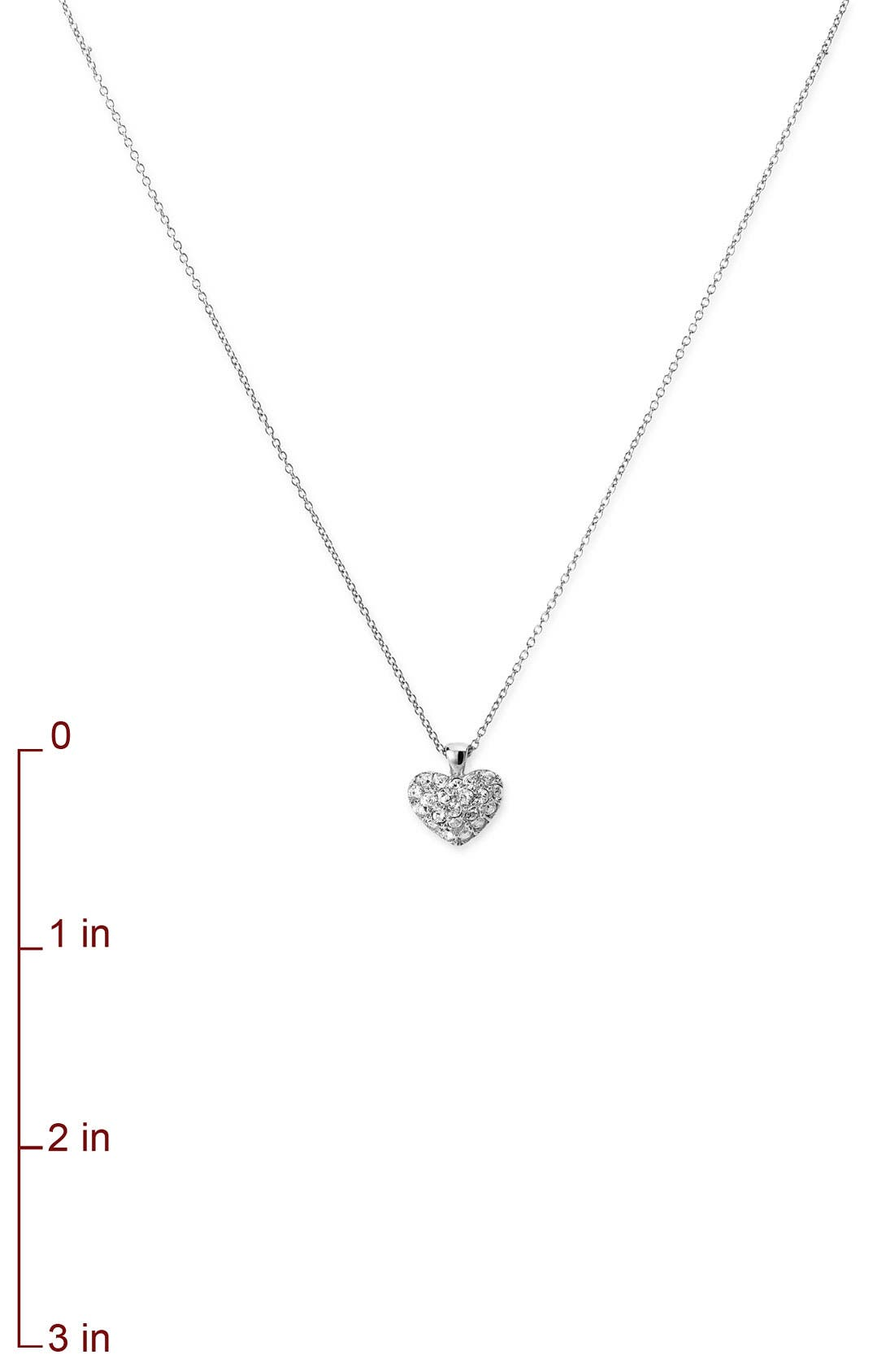 NORDSTROM, Crystal Collection Heart Pendant Necklace, Alternate thumbnail 2, color, 040