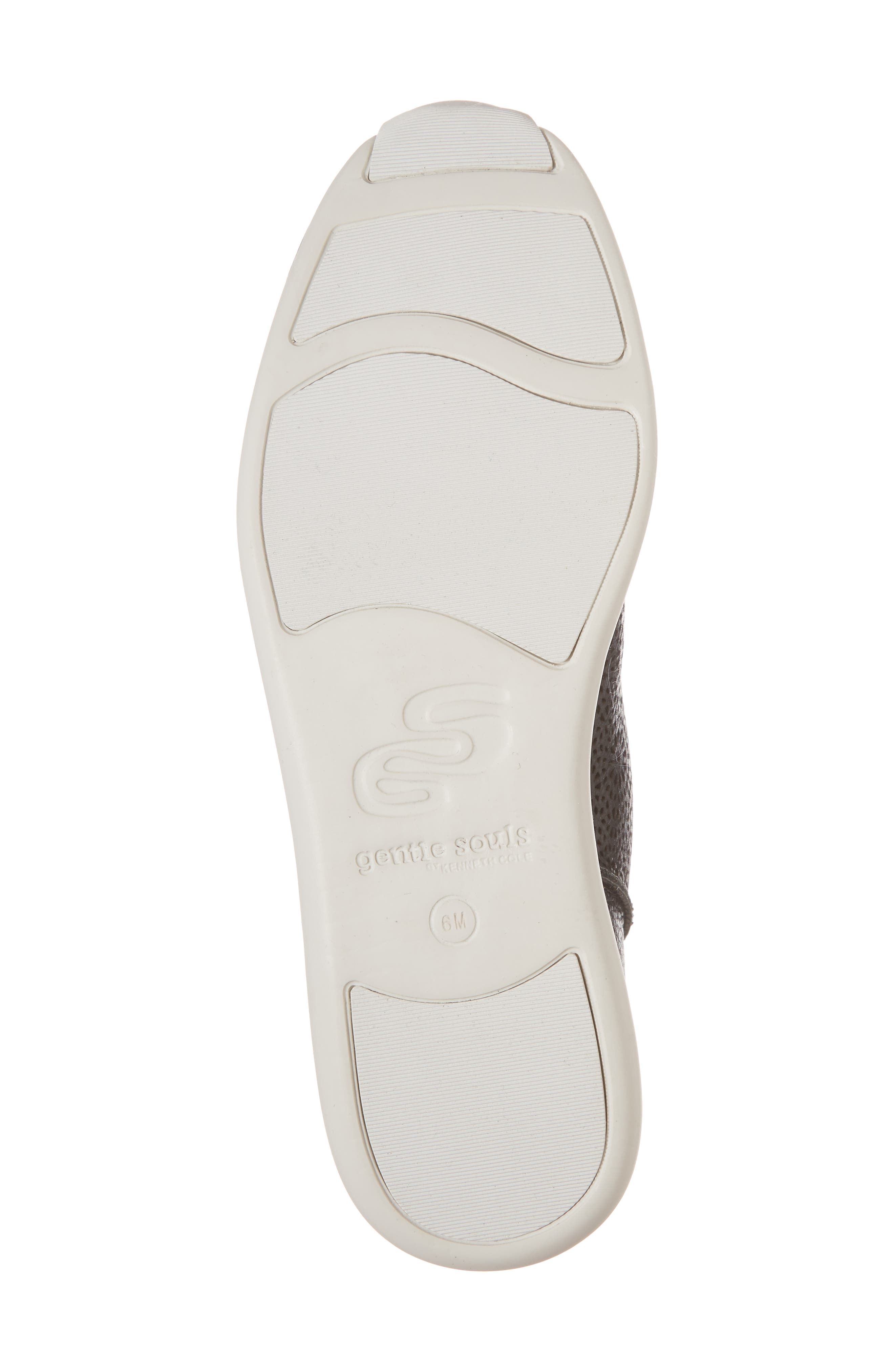 GENTLE SOULS BY KENNETH COLE, Raina II Sneaker, Alternate thumbnail 6, color, BLACK LEATHER