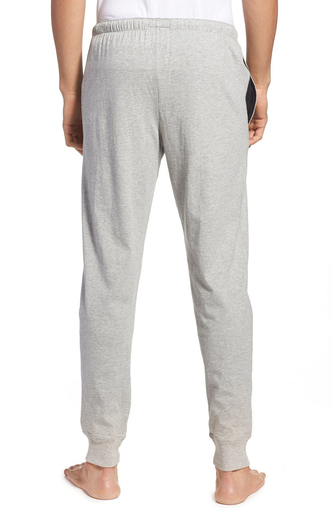 POLO RALPH LAUREN, Relaxed Fit Jogger Pants, Alternate thumbnail 4, color, ANDOVER HEATHER