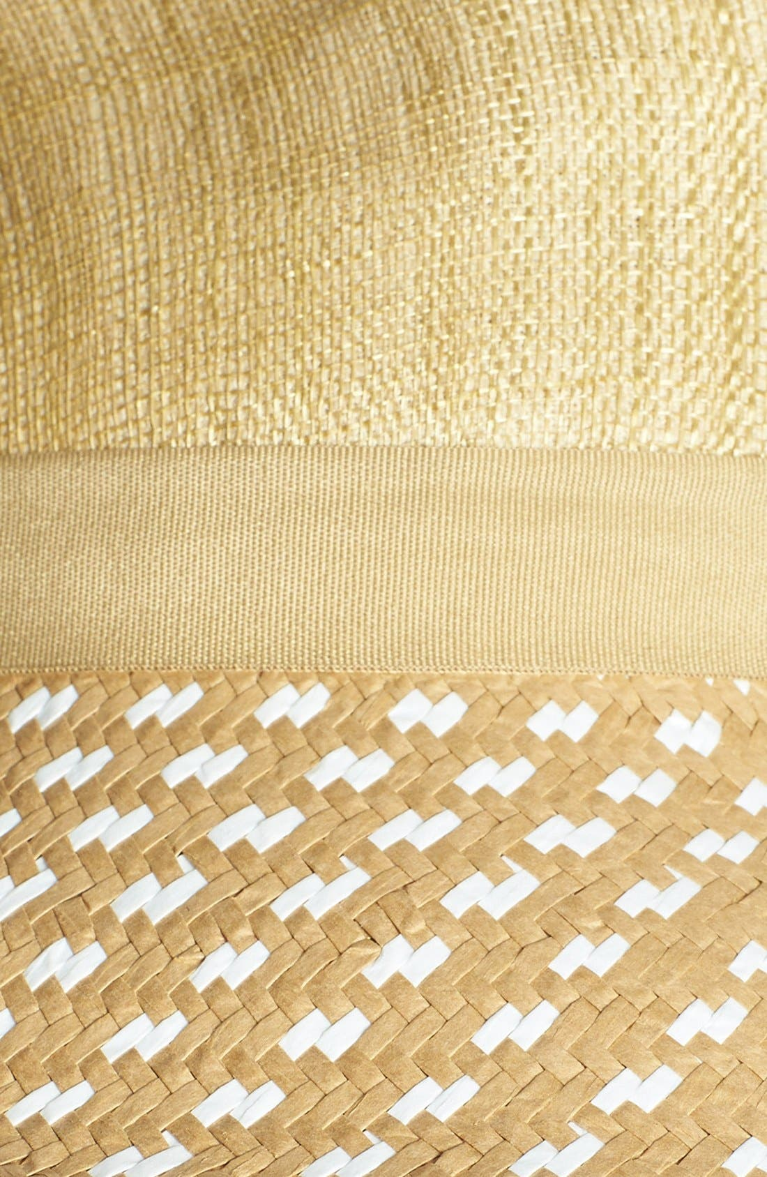 BCBG, AXAZRIA Geo Woven Panama Hat, Alternate thumbnail 2, color, 265