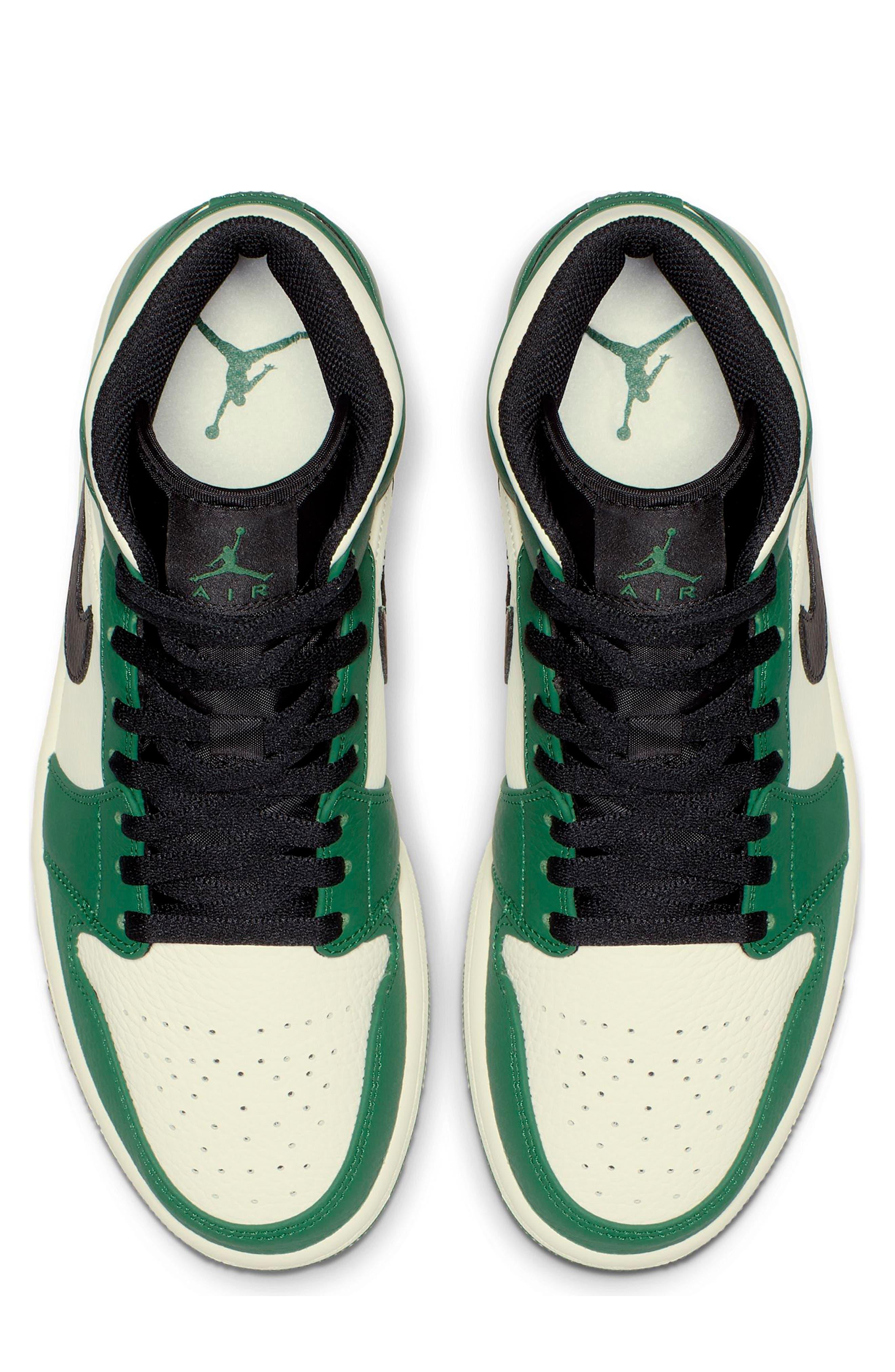 NIKE, Air Jordan 1 Mid Winterized Sneaker, Alternate thumbnail 3, color, 301