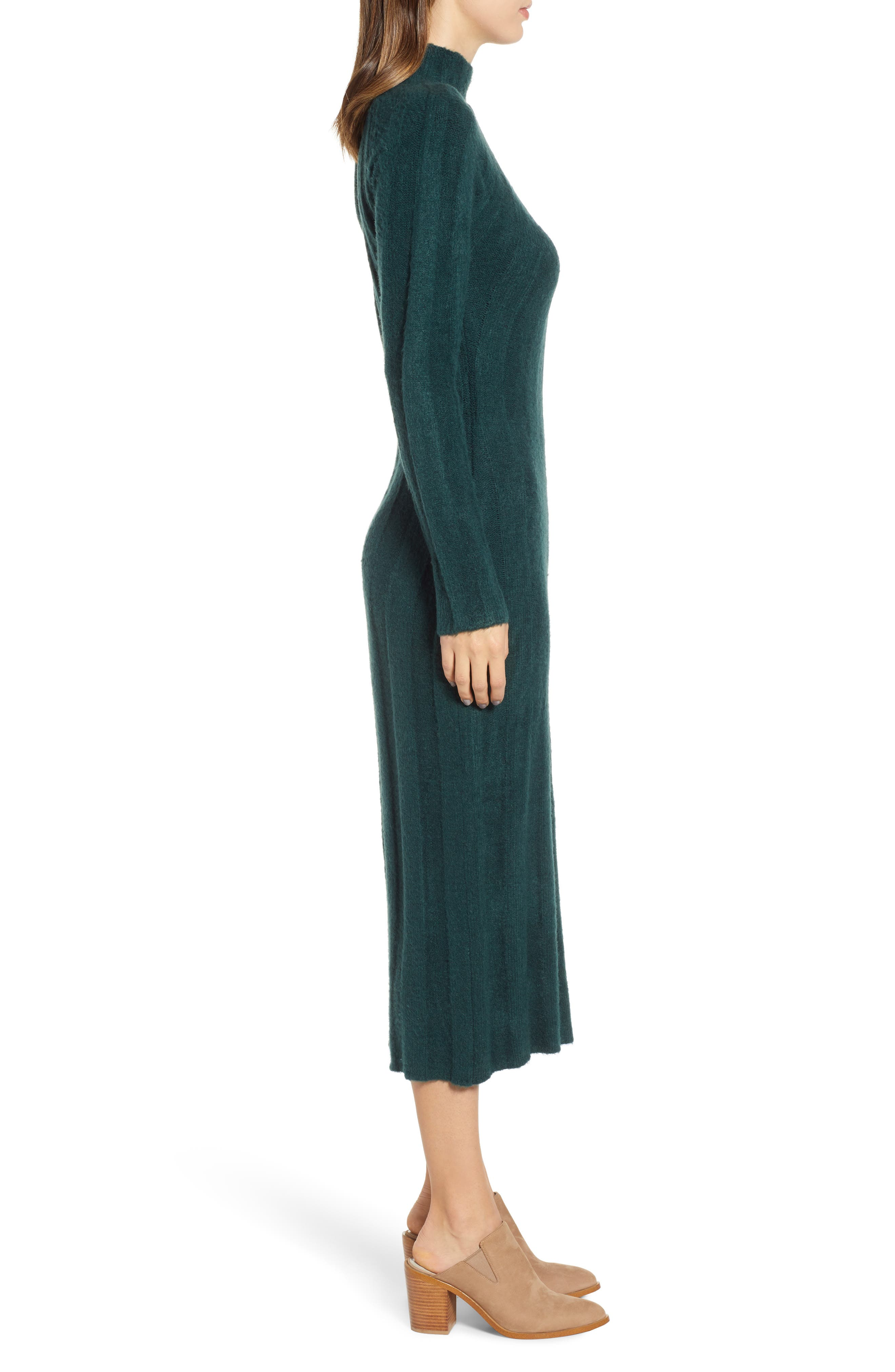 4SI3NNA, Wide Rib Sweater Dress, Alternate thumbnail 4, color, 300