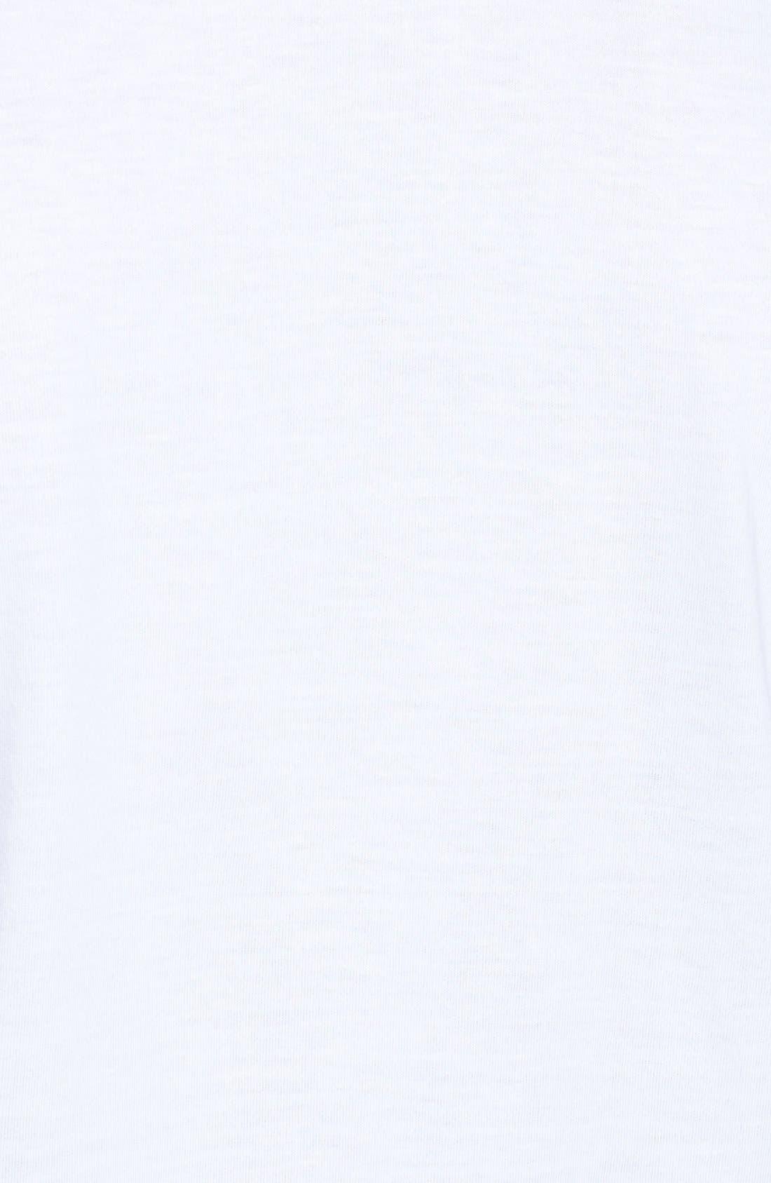 NORDSTROM MEN'S SHOP, 4-Pack Regular Fit Supima<sup>®</sup> Cotton V-Neck T-Shirts, Alternate thumbnail 8, color, WHITE