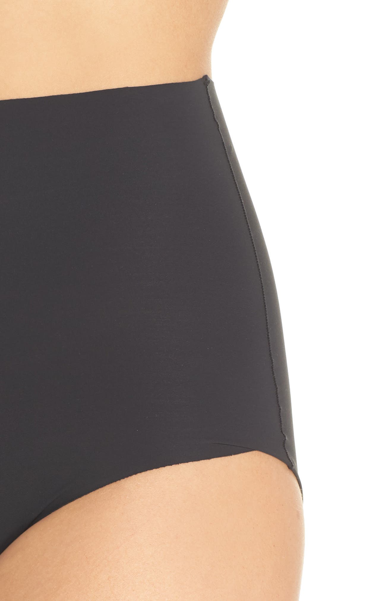 YUMMIE, Smooth Solutions Mid Waist Briefs, Alternate thumbnail 4, color, BLACK
