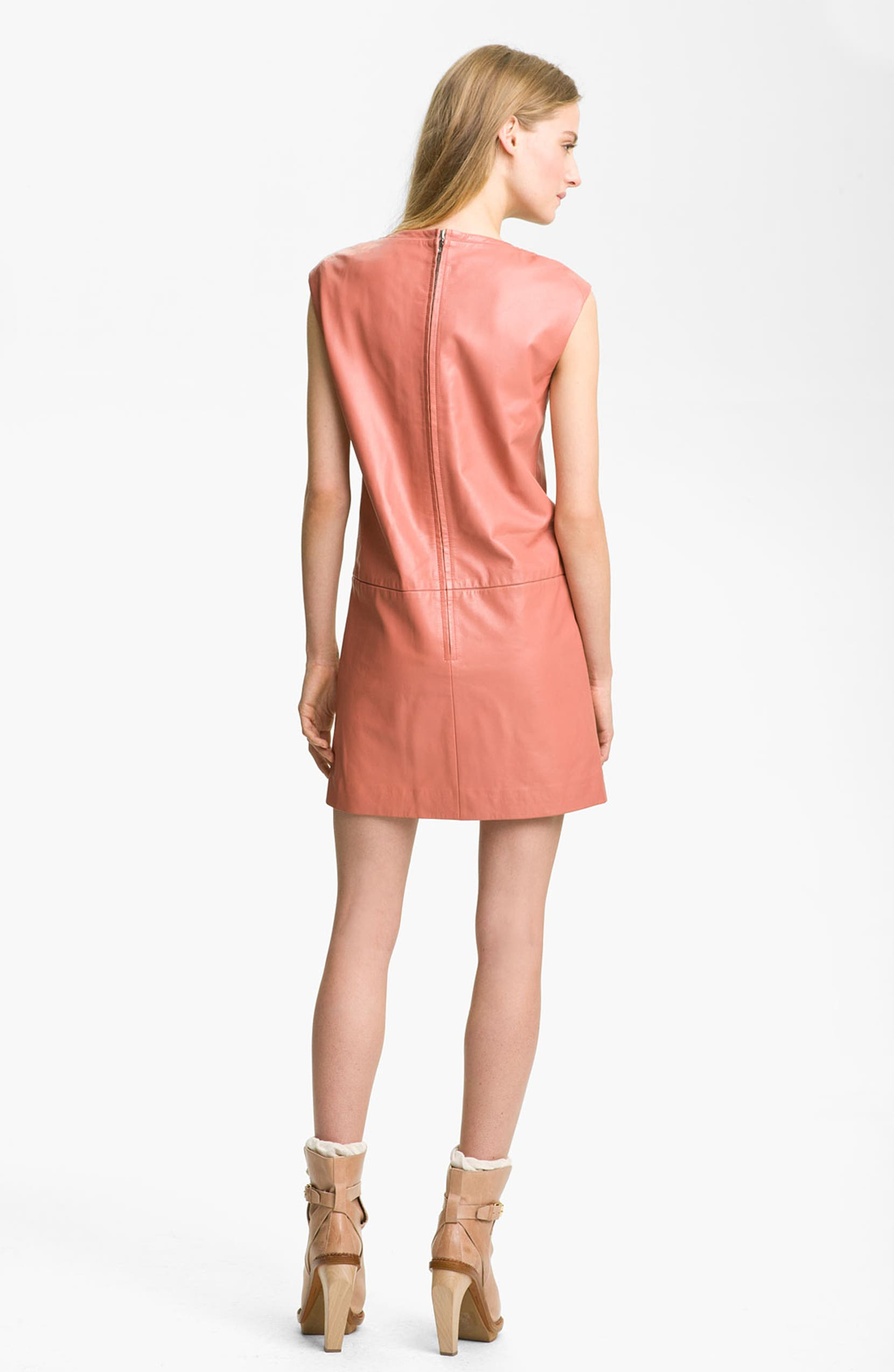 ea25189751c Cacharel Leather Shift Dress | Nordstrom