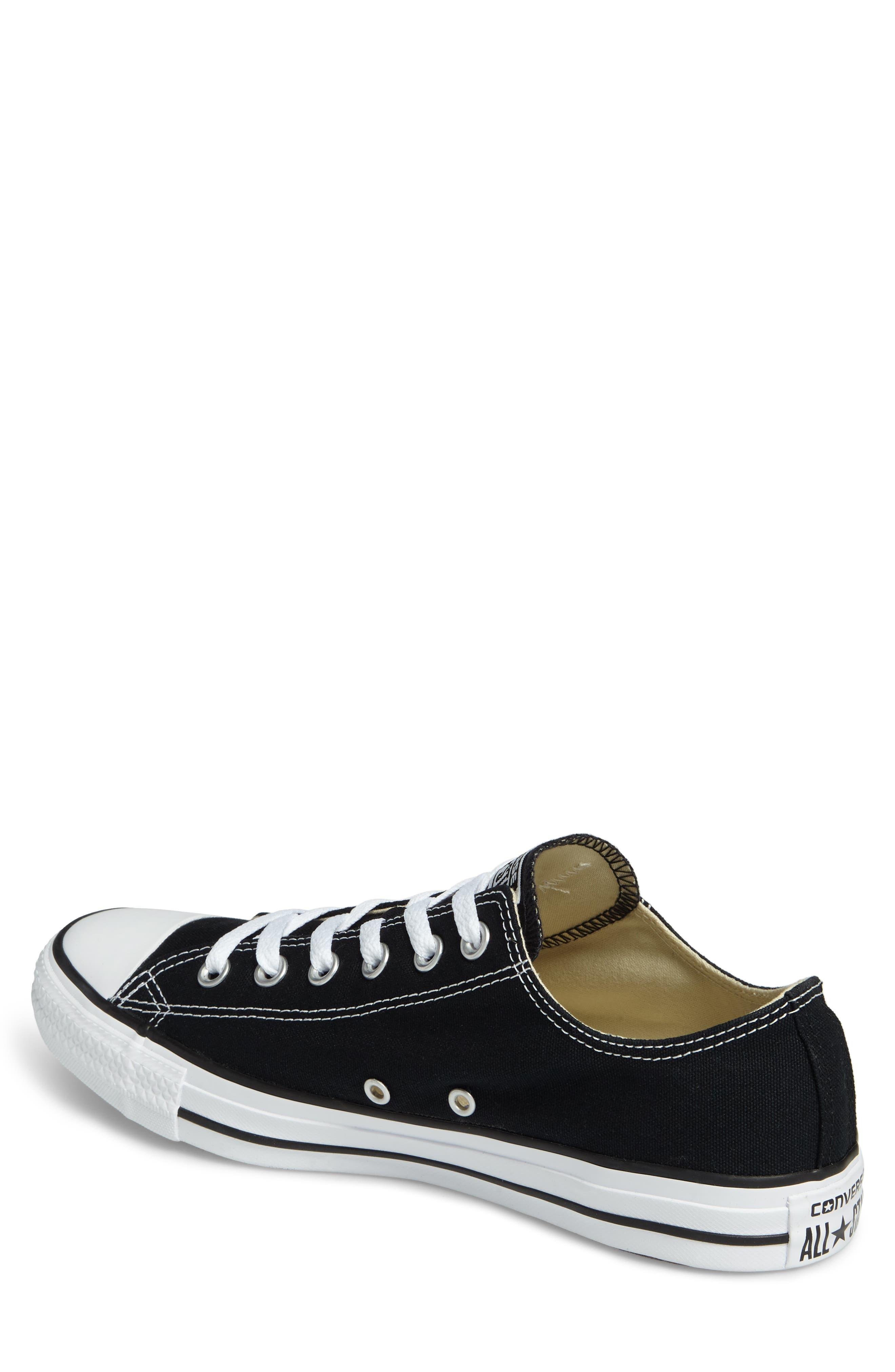 CONVERSE, Chuck Taylor<sup>®</sup> Low Sneaker, Alternate thumbnail 2, color, BLACK