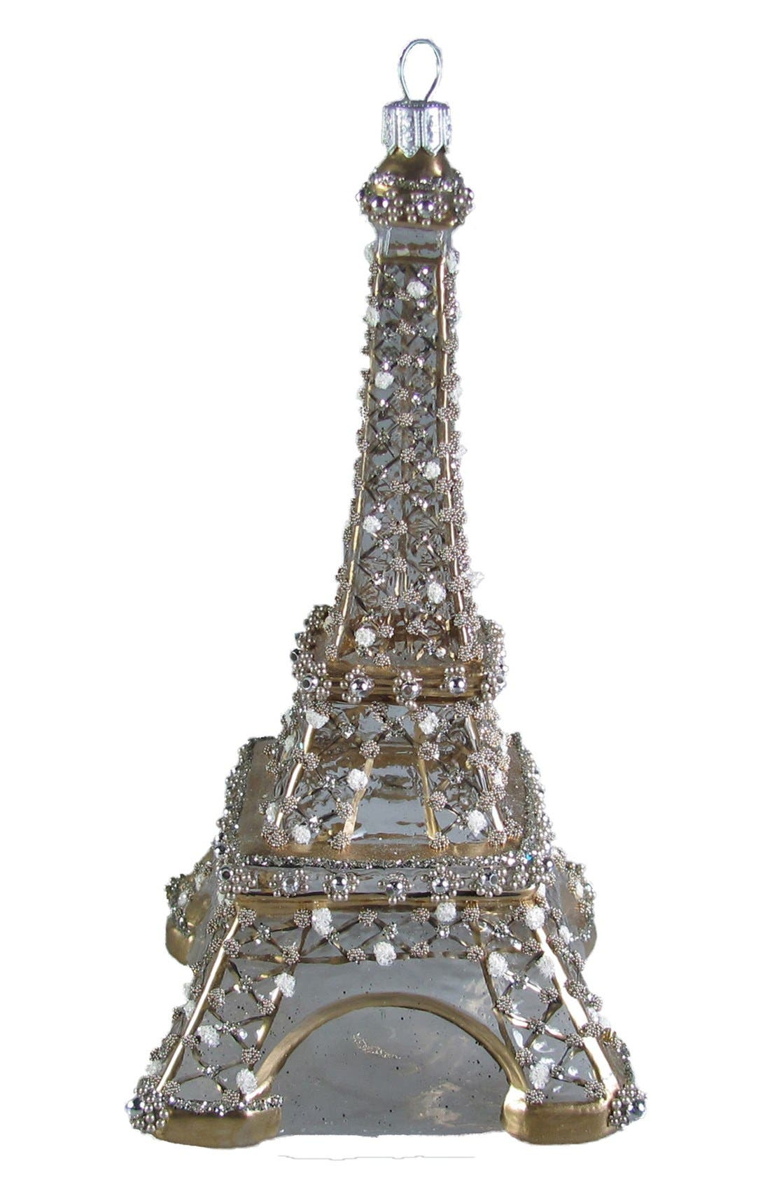NORDSTROM AT HOME, Crystal Embellished Eiffel Tower Ornament, Main thumbnail 1, color, 710