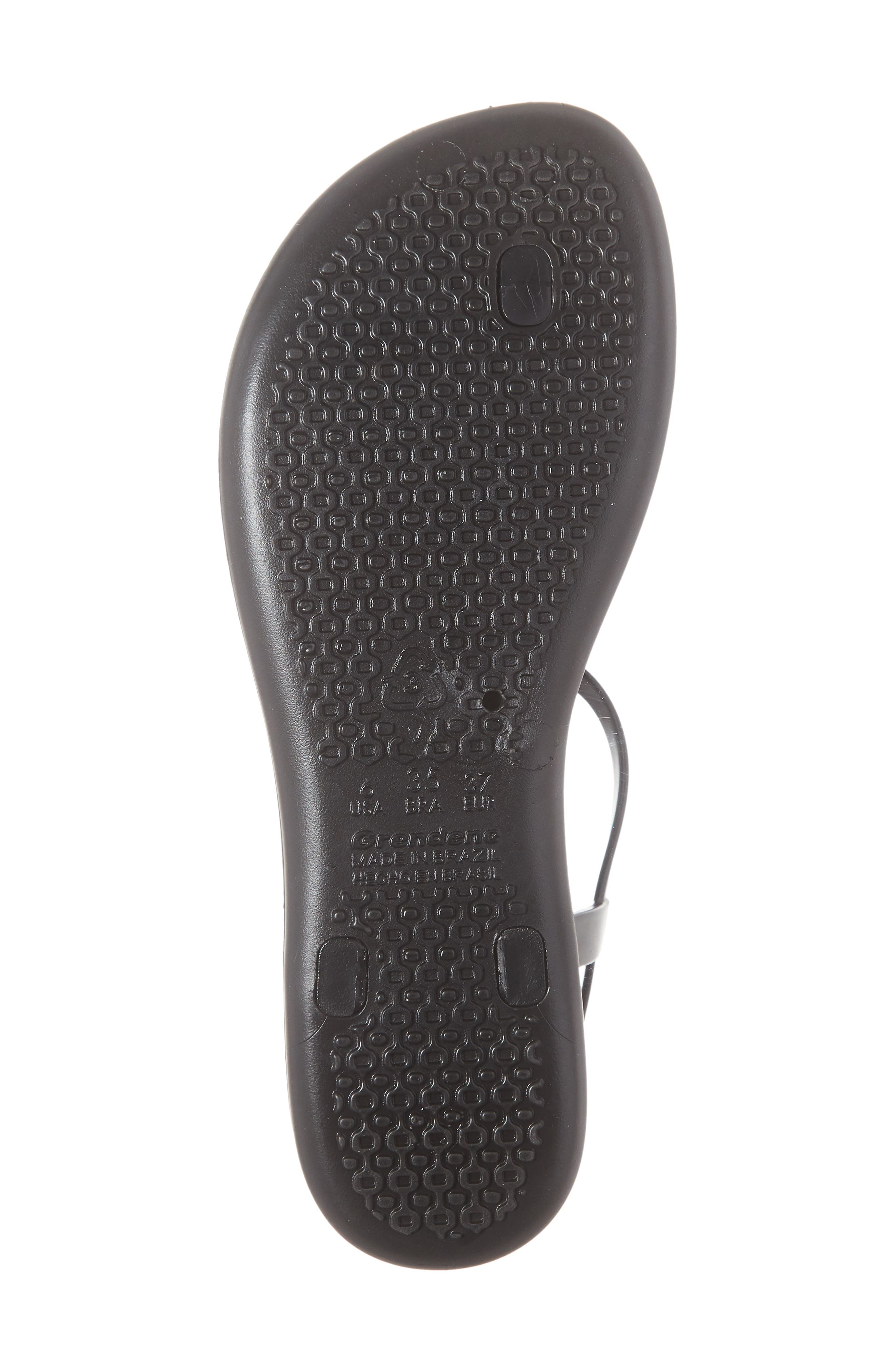 IPANEMA, Shimmer Sandal, Alternate thumbnail 6, color, BLACK/ SILVER