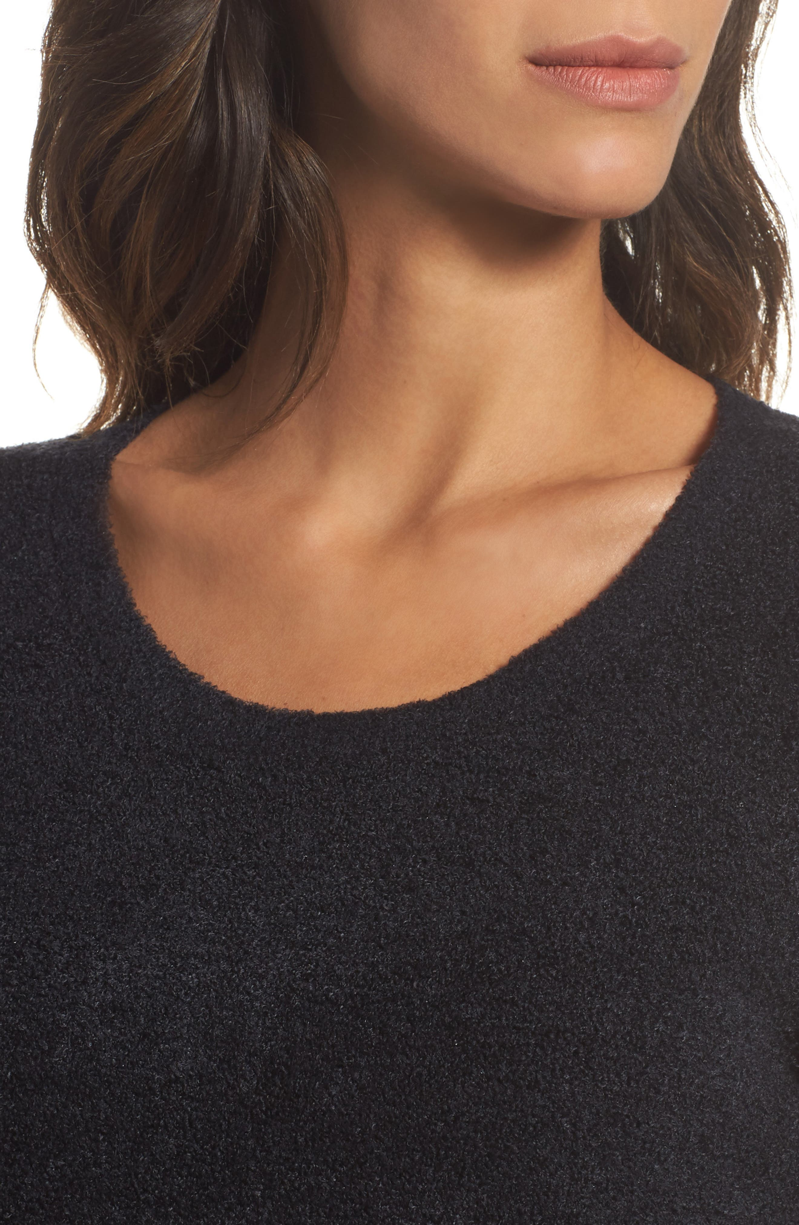BAREFOOT DREAMS<SUP>®</SUP>, Cozychic Lite<sup>®</sup> Pullover, Alternate thumbnail 4, color, BLACK