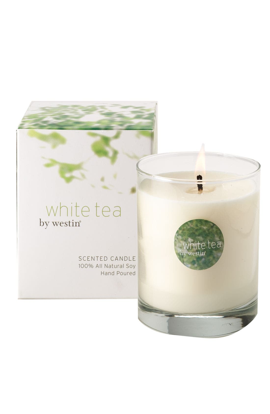 WESTIN AT HOME, White Tea Candle, Alternate thumbnail 2, color, 100