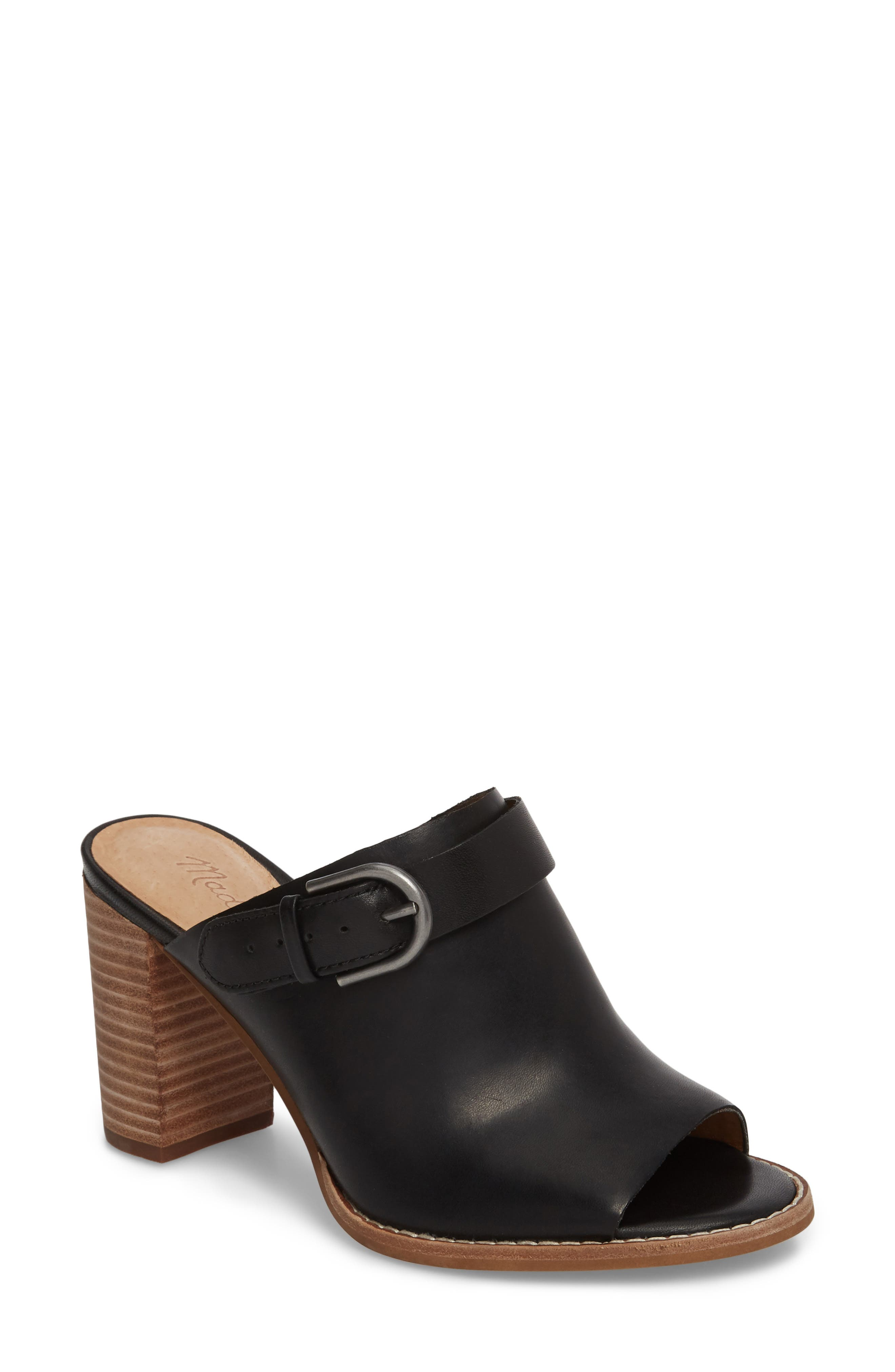 MADEWELL Riley Slingback Mule, Main, color, TRUE BLACK LEATHER