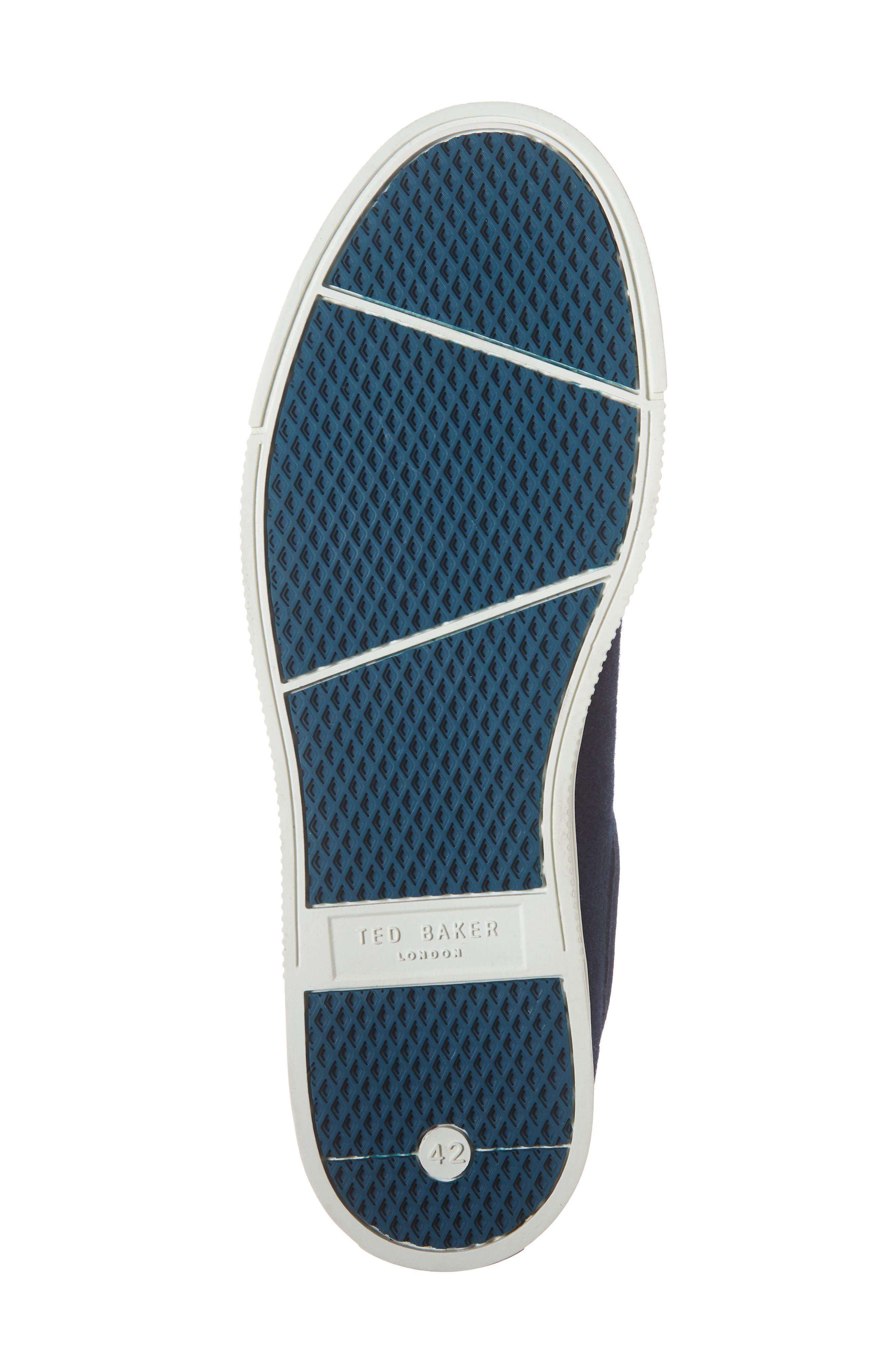 TED BAKER LONDON, Werill Sneaker, Alternate thumbnail 6, color, DARK BLUE WOOL