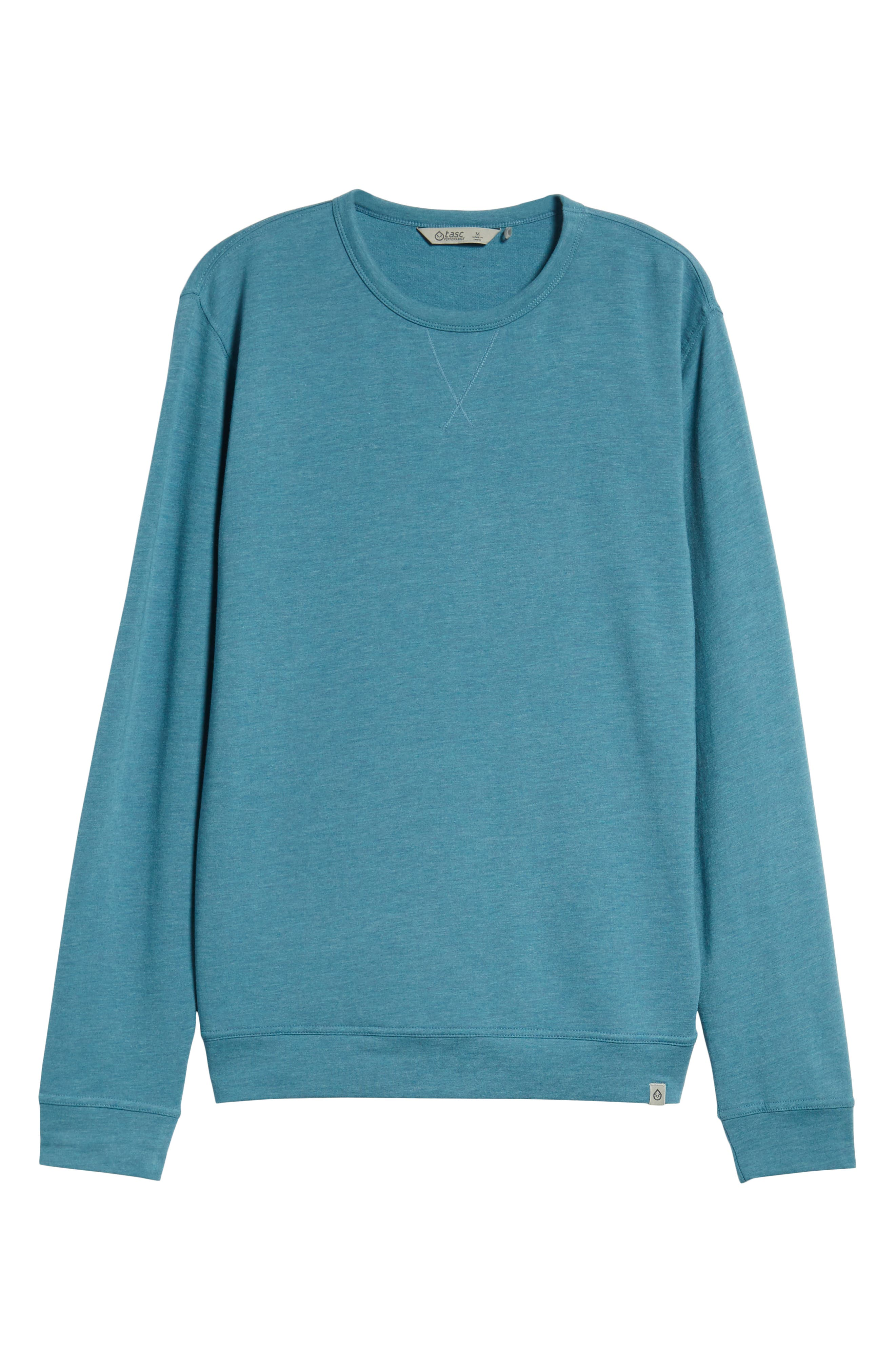 TASC PERFORMANCE, Charge II T-Shirt, Alternate thumbnail 7, color, TRANQUILITY SEA HEATHER