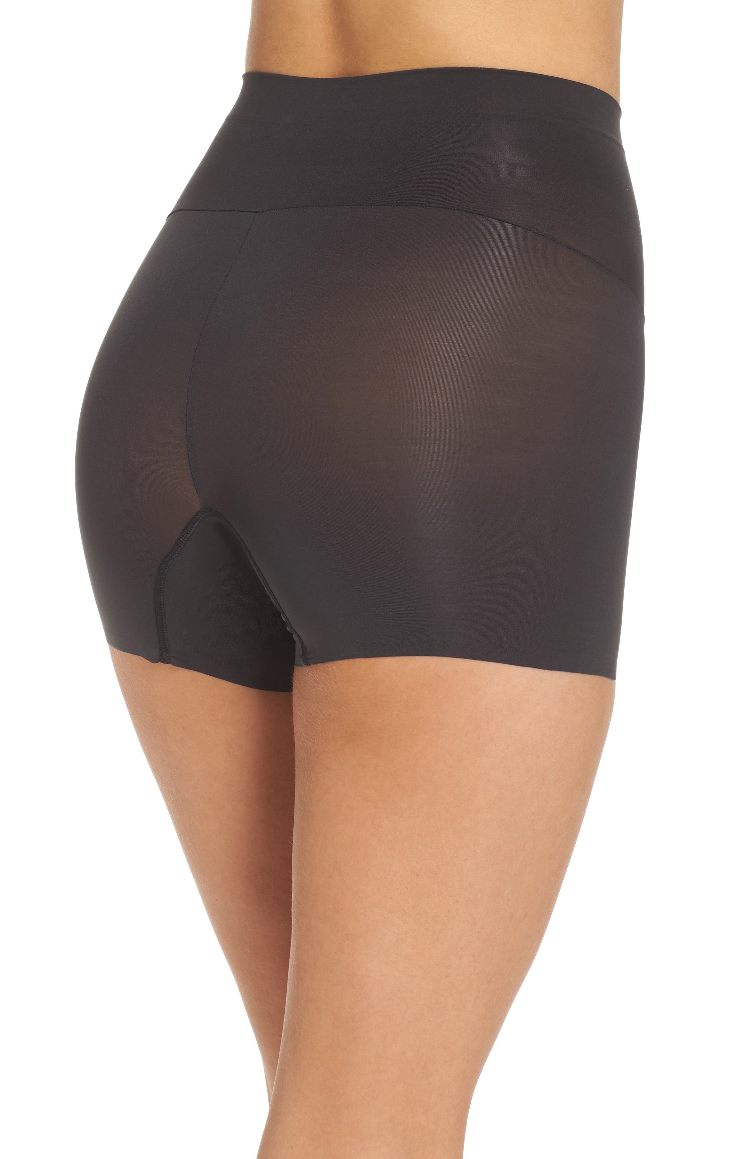 SPANX<SUP>®</SUP>, Shape My Day Girl Shorts, Alternate thumbnail 2, color, BLACK