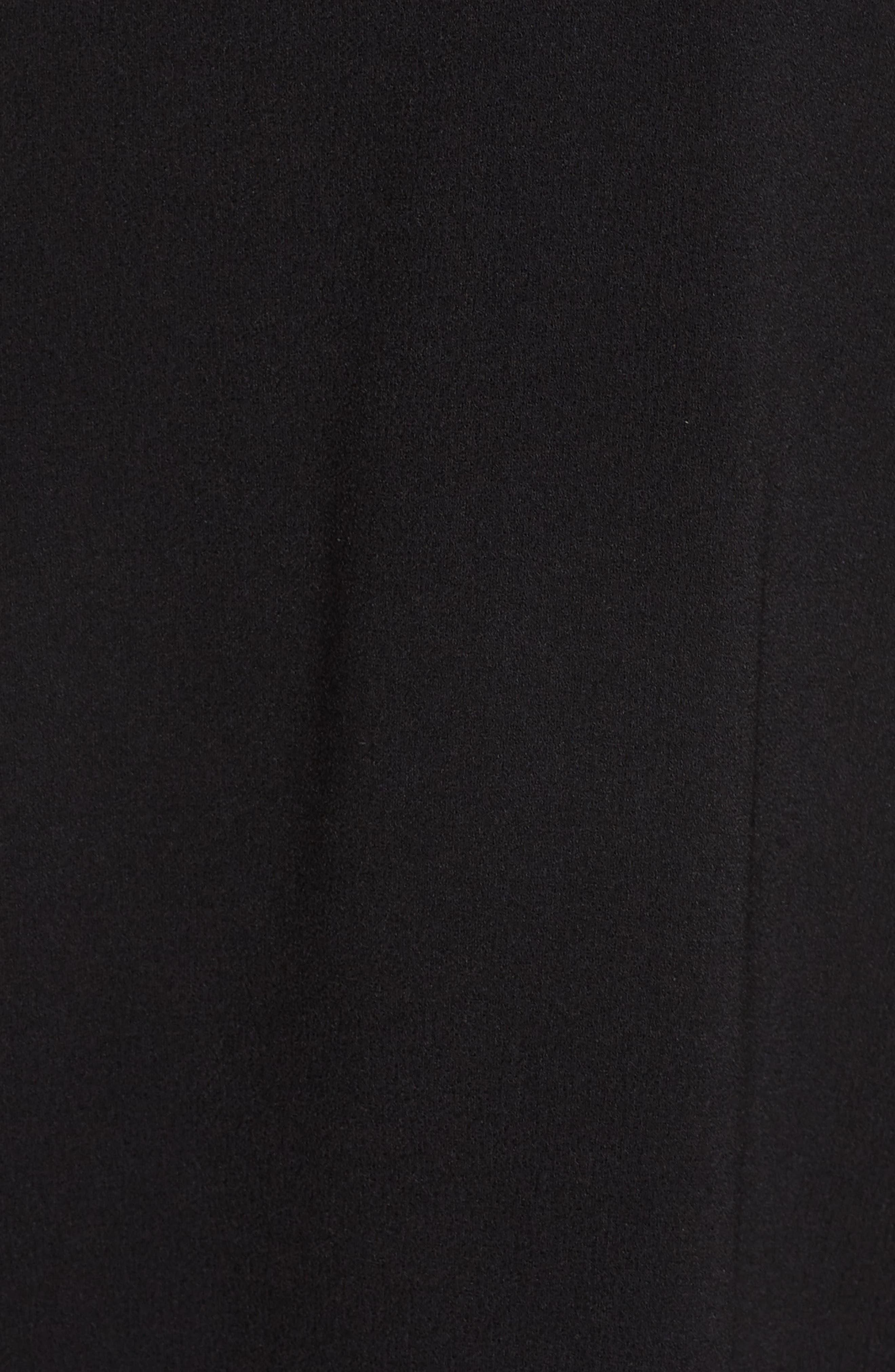 HARPER ROSE, Sleeveless Cross Front Midi Dress, Alternate thumbnail 6, color, 001