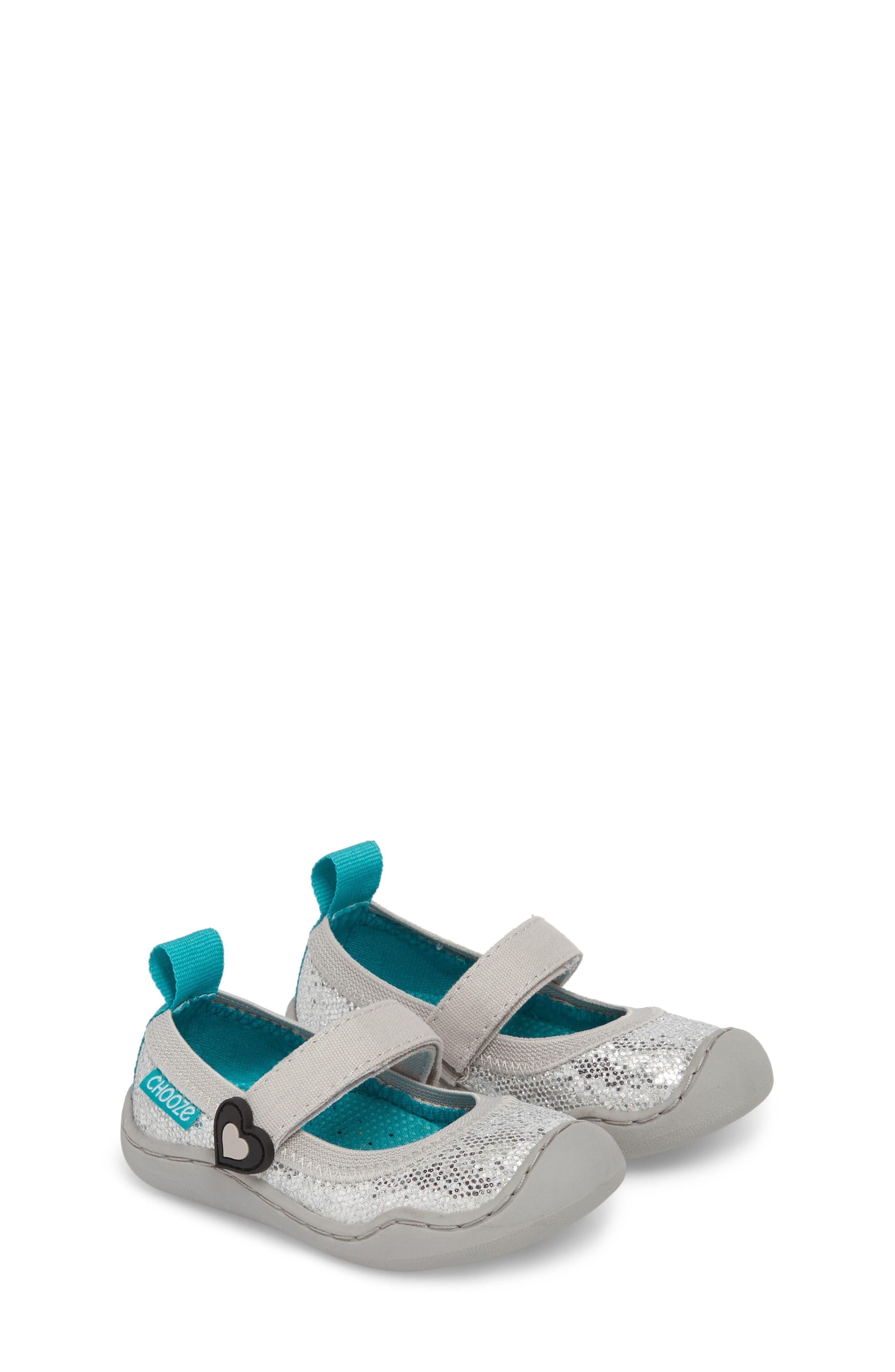 CHOOZE, Steady Shimmer Mary Jane Sneaker, Alternate thumbnail 2, color, GLOW PLATINUM