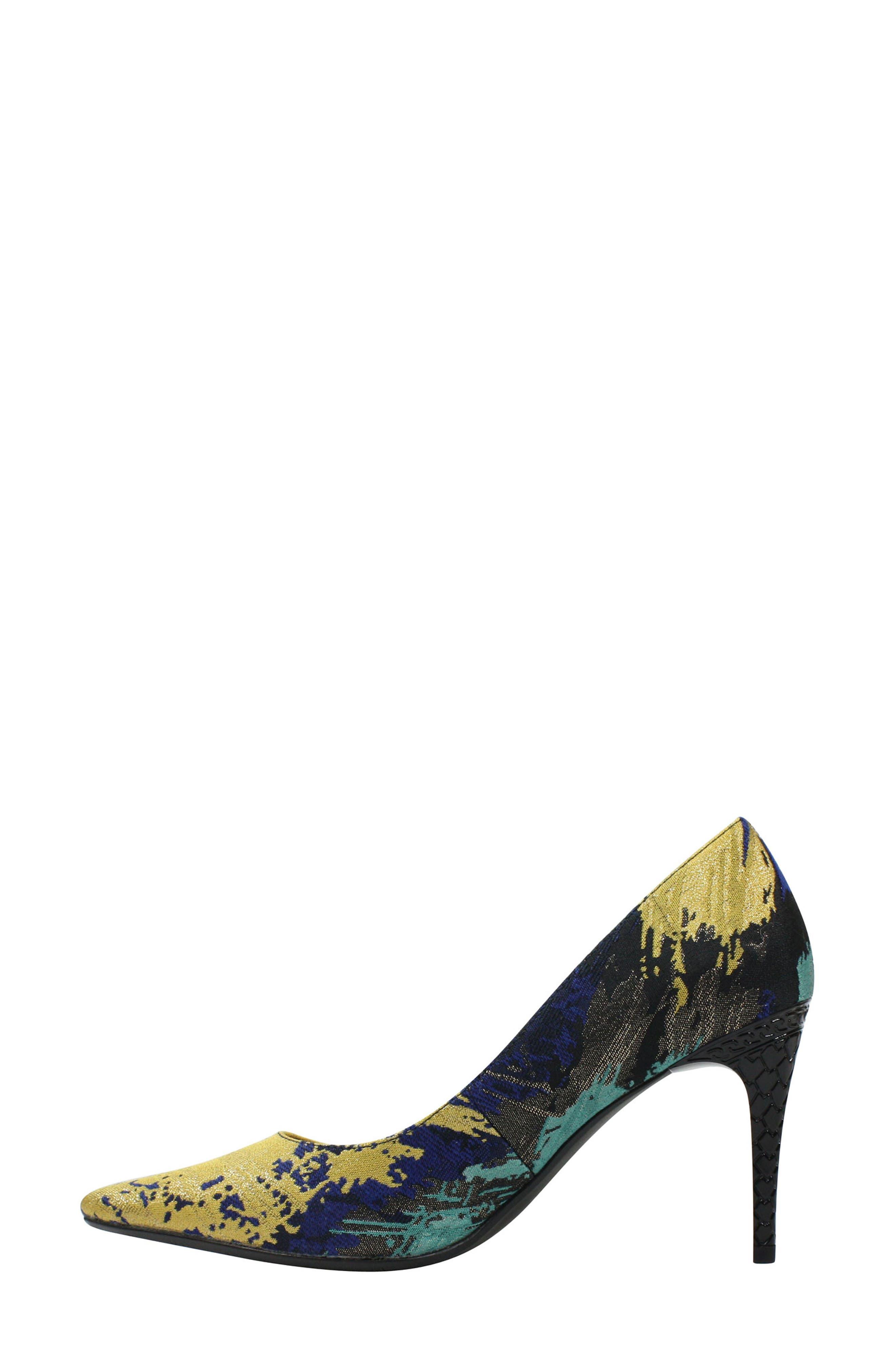 J. RENEÉ, 'Maressa' Pointy Toe Pump, Alternate thumbnail 7, color, BLUE/ BLACK MULTI