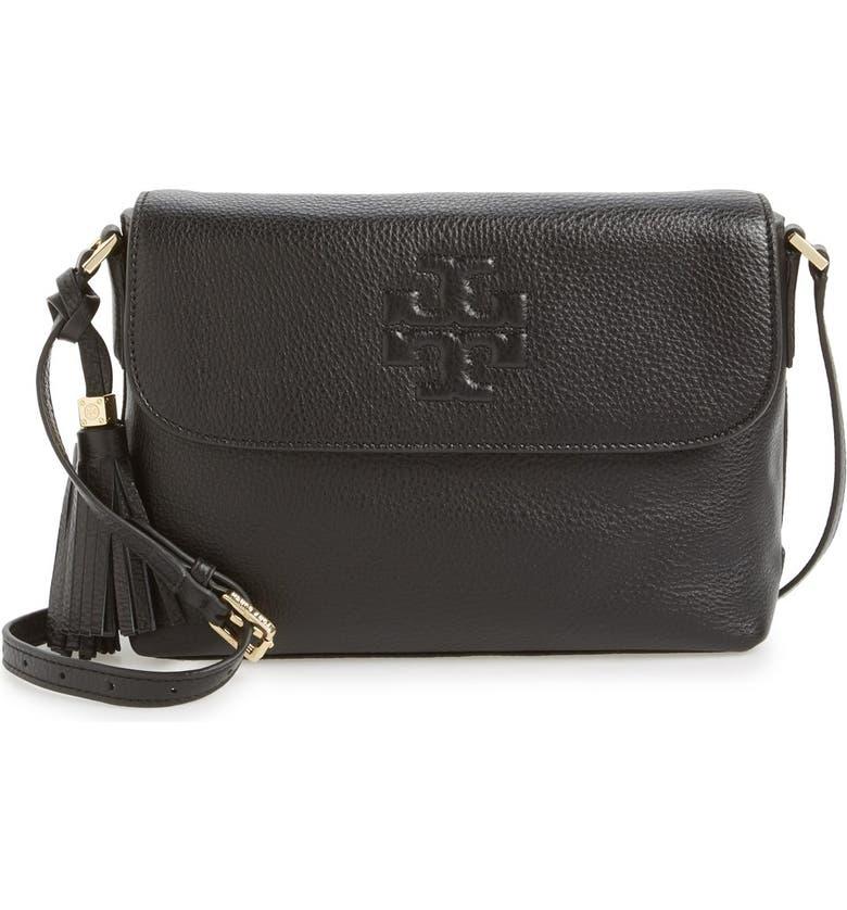 4f029ca15e4 Tory Burch  Thea  Leather Messenger Bag