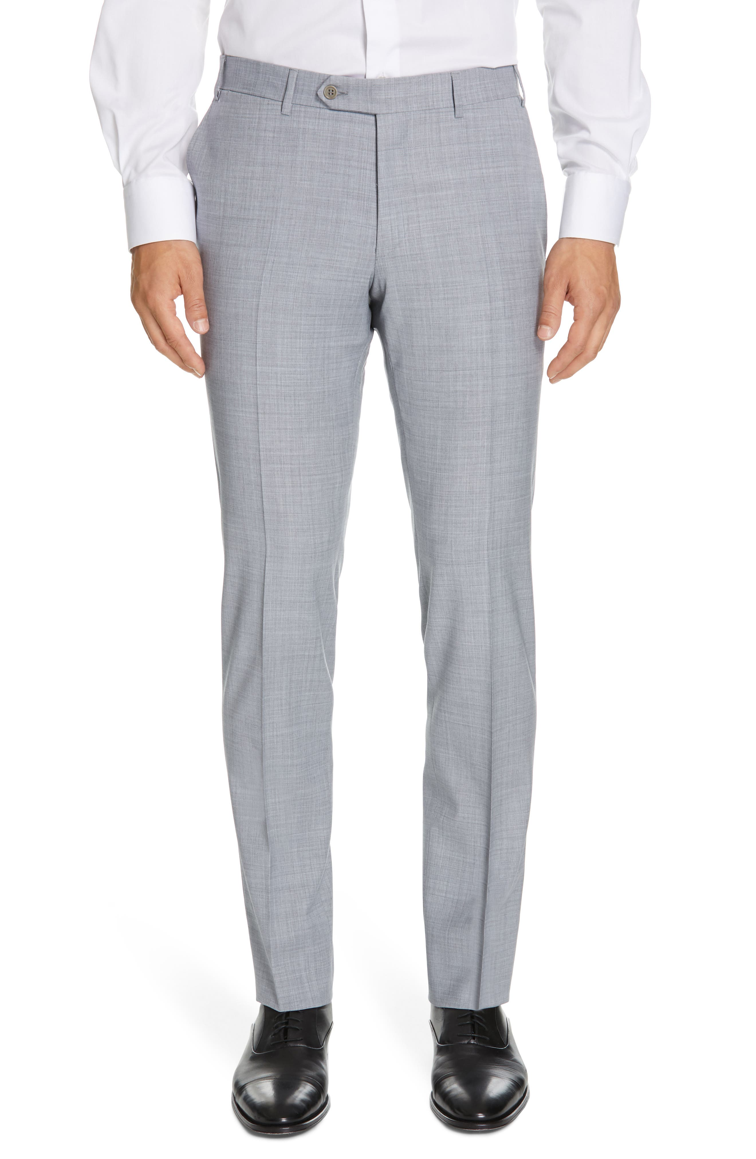 CANALI, Milano Classic Fit Solid Wool Suit, Alternate thumbnail 6, color, LIGHT GREY