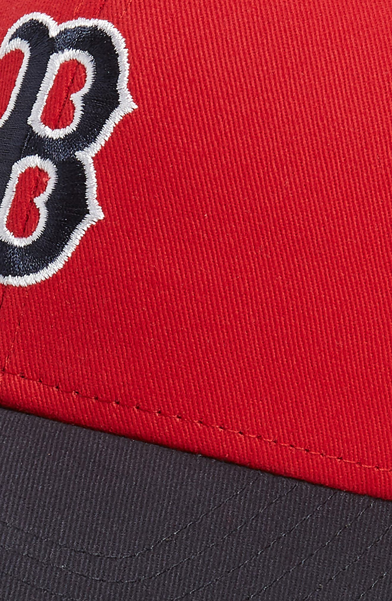 '47, Short Stack Boston Red Sox Baseball Cap, Alternate thumbnail 3, color, RED