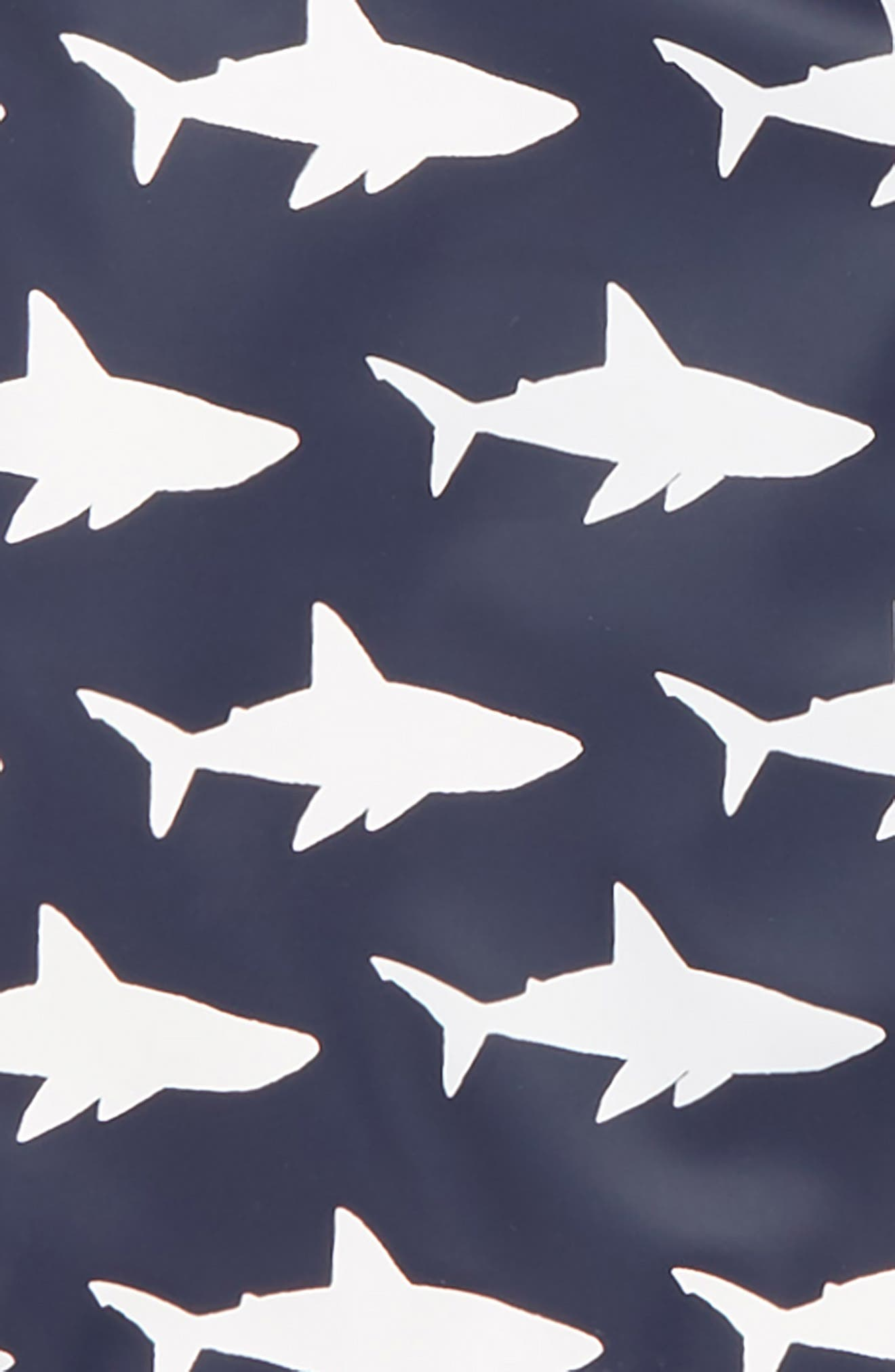 HATLEY, Color Changing Sharks Water Resistant Raincoat, Alternate thumbnail 2, color, BLUE