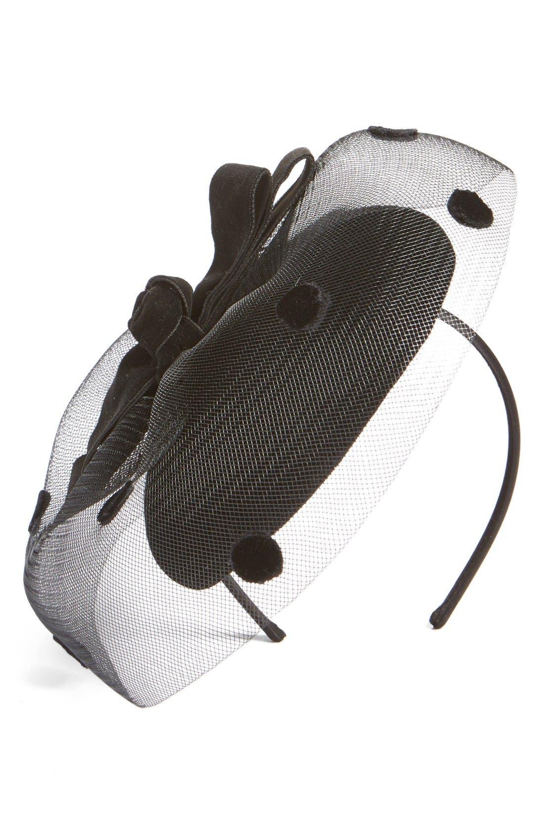 NORDSTROM Dot Veil Fascinator Headband, Main, color, 001