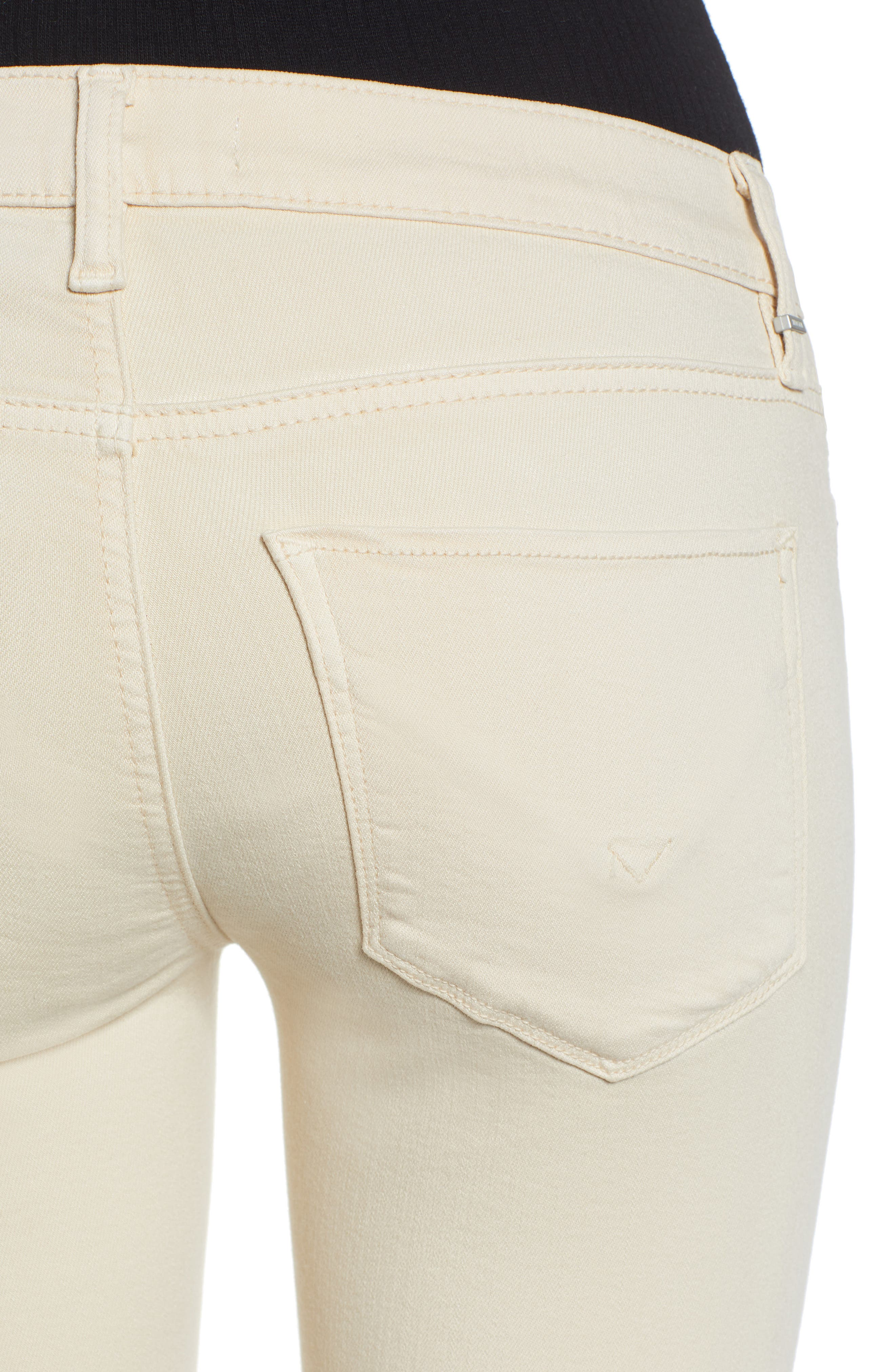 HUDSON JEANS, Tally Ankle Skinny Jeans, Alternate thumbnail 5, color, FAWN