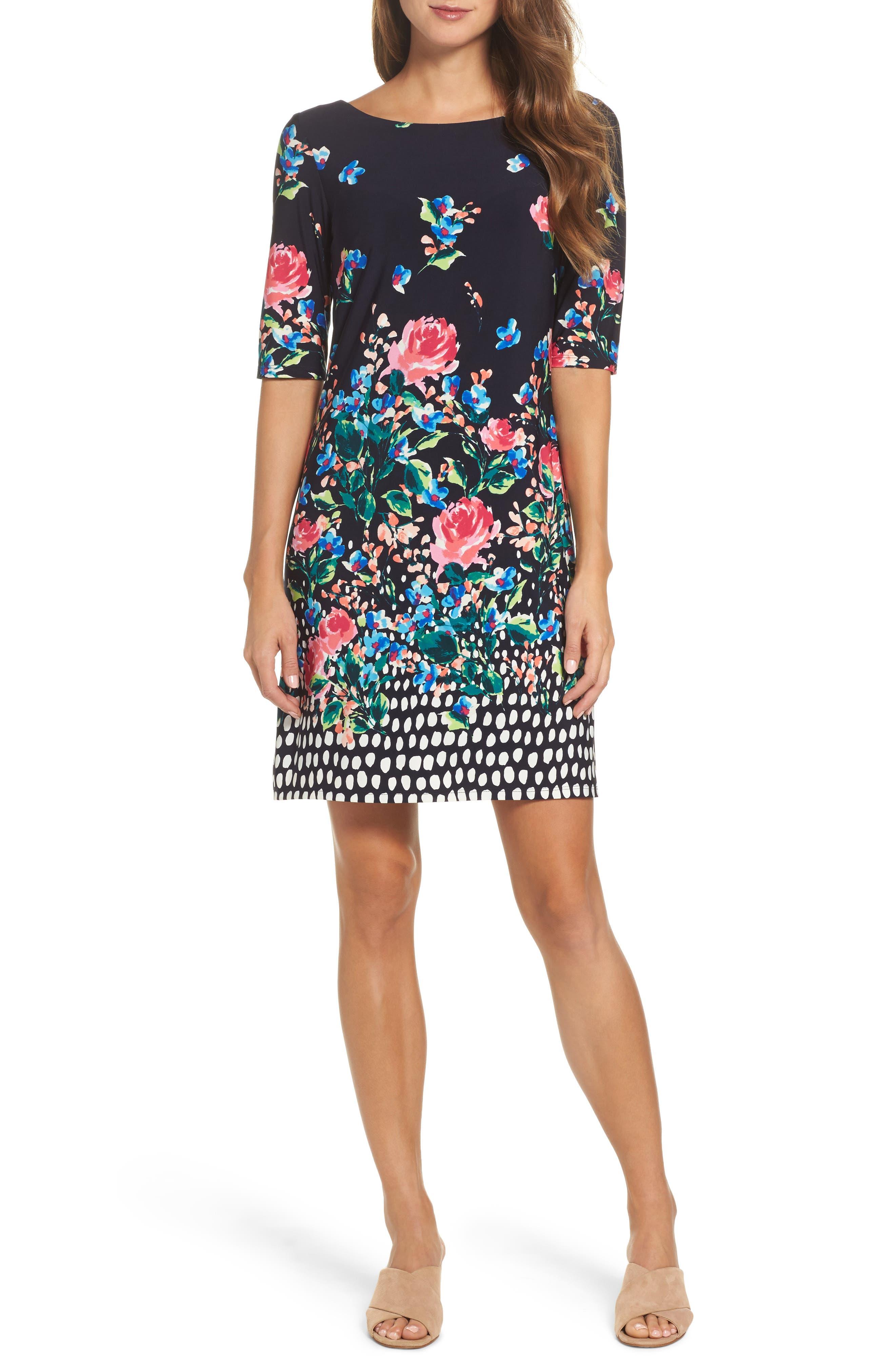ELIZA J, Jersey Shift Dress, Main thumbnail 1, color, 410