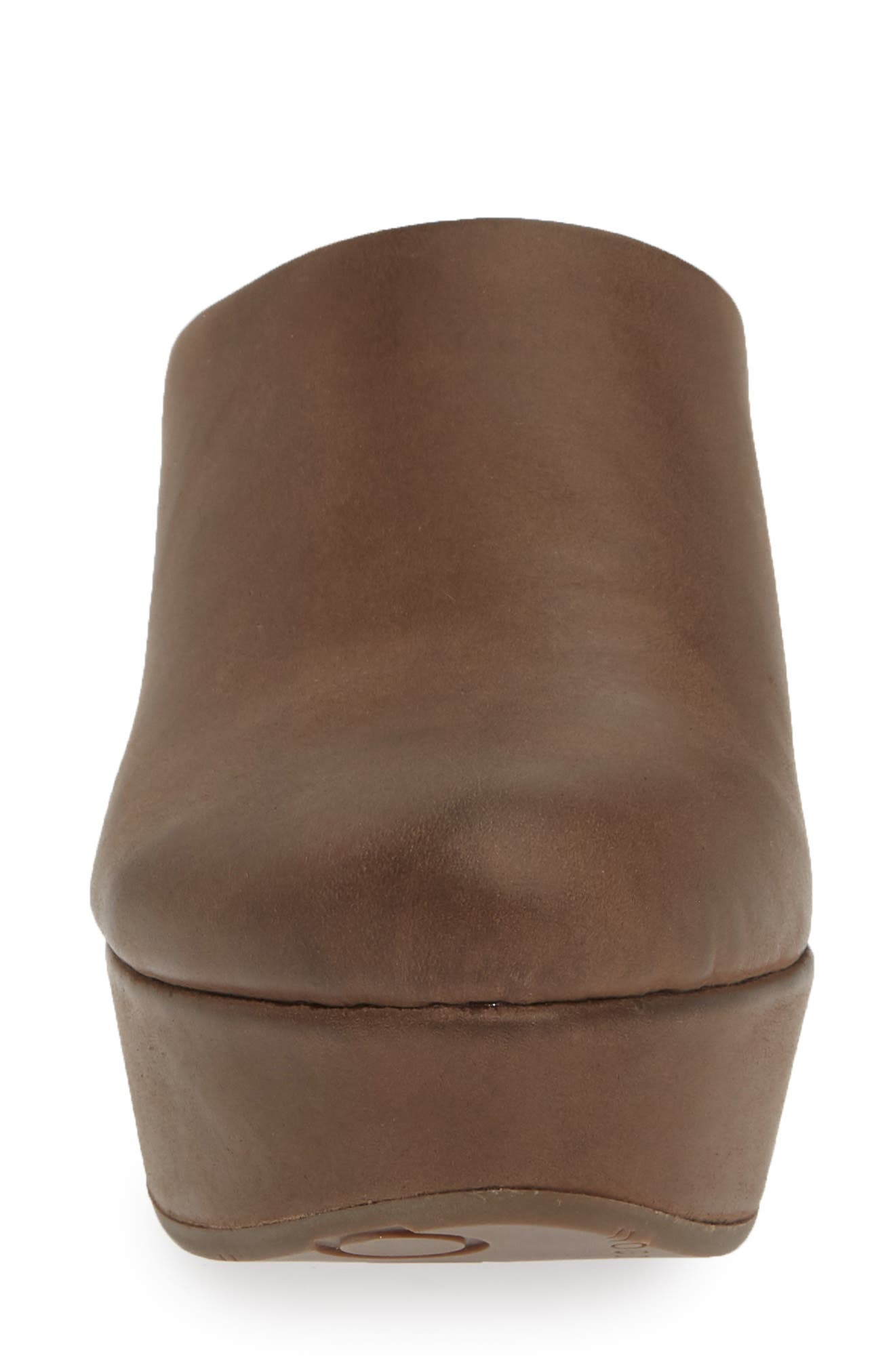 CHOCOLAT BLU, Wylie Wedge Mule, Alternate thumbnail 4, color, CHOCOLATE LEATHER