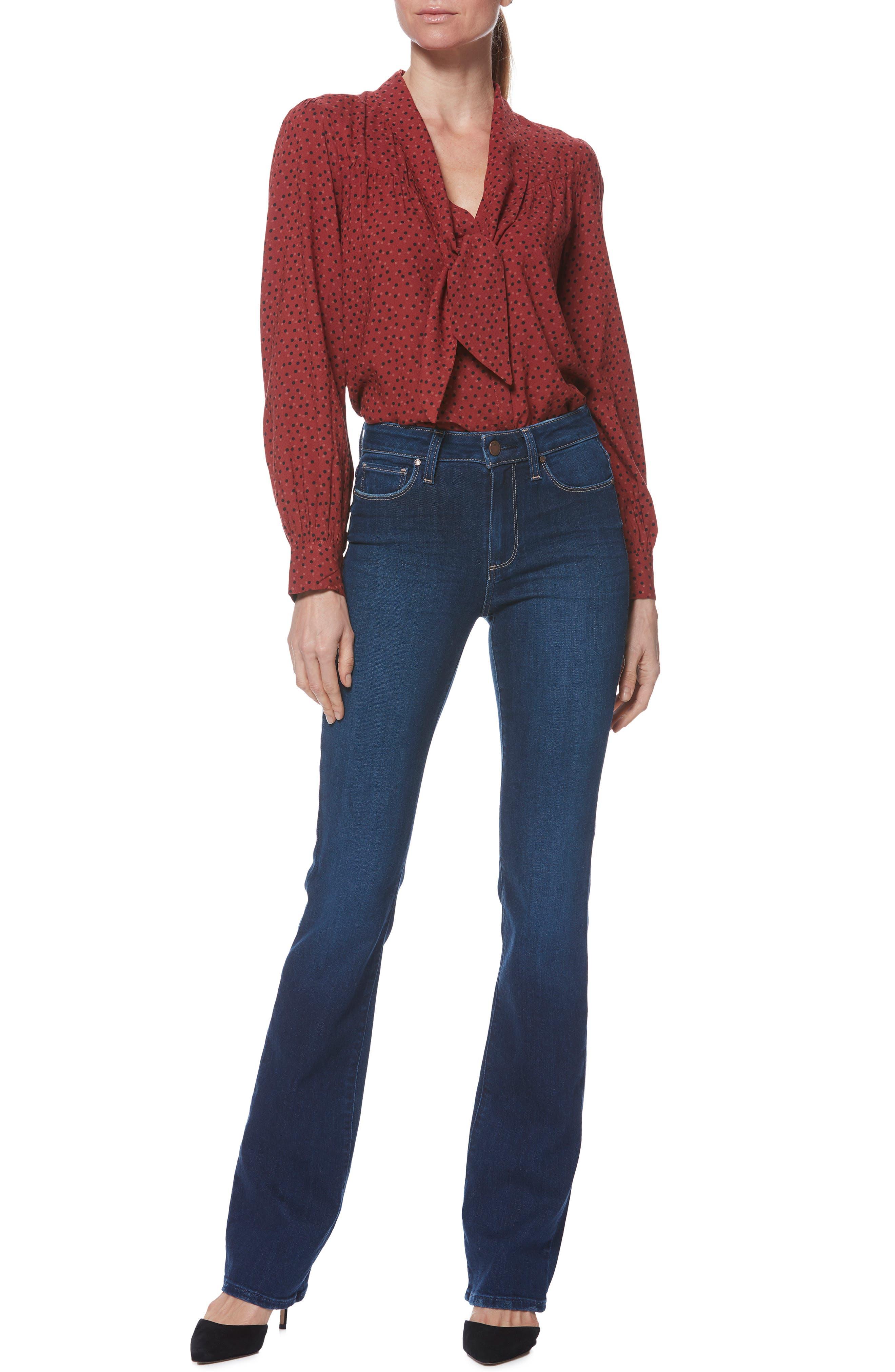 PAIGE, Transcend Vintage - Manhattan Bootcut Jeans, Alternate thumbnail 7, color, 400
