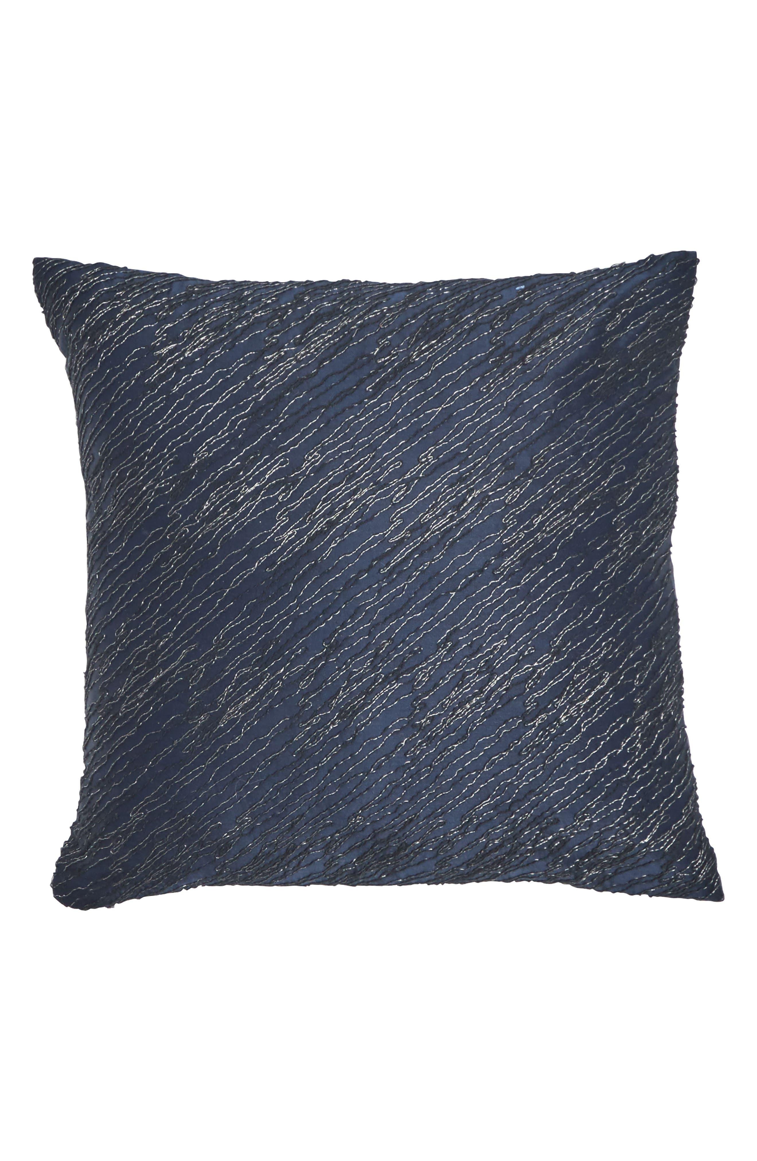 DONNA KARAN NEW YORK, Ocean Pillow, Main thumbnail 1, color, NAVY