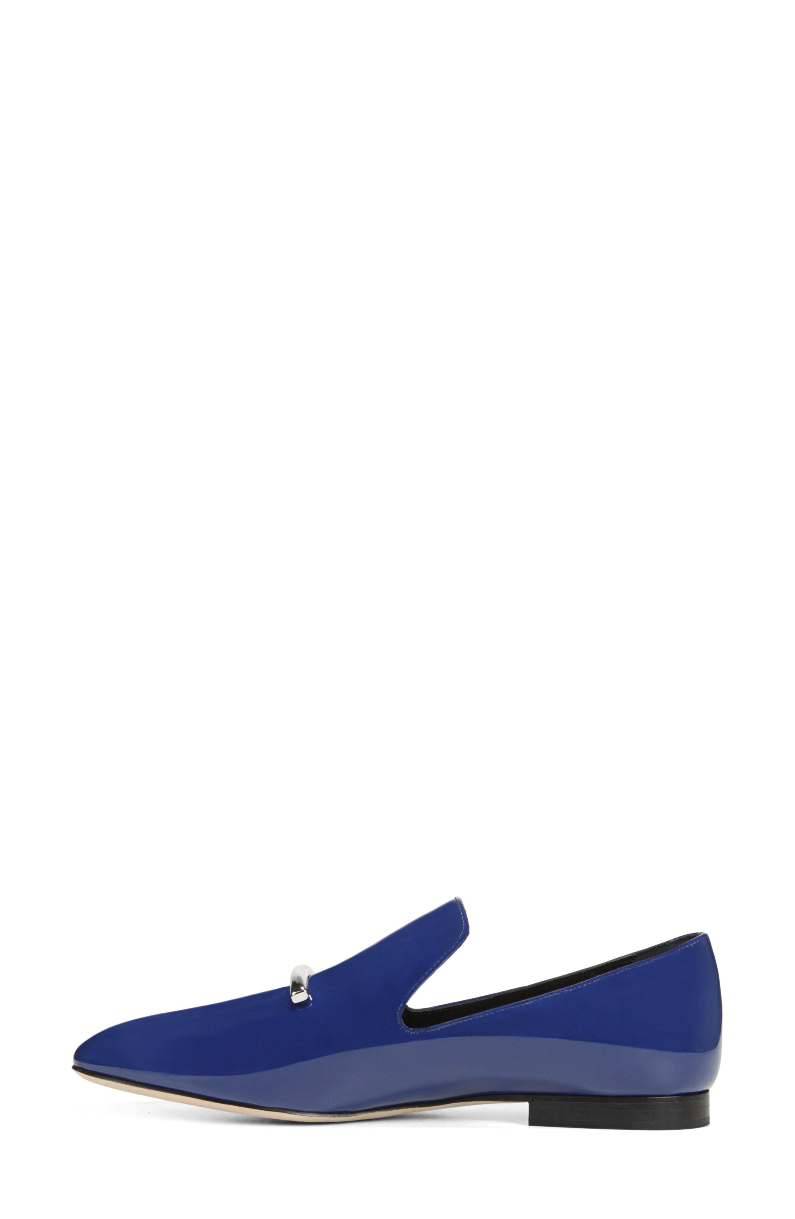 VIA SPIGA, Tallis Flat Loafer, Alternate thumbnail 8, color, POP BLUE