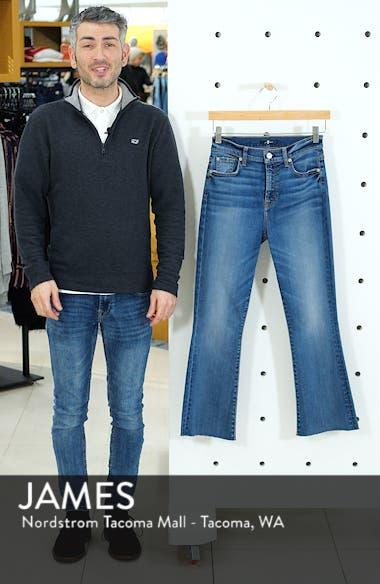 High Waist Slim Crop Flare Jeans, sales video thumbnail