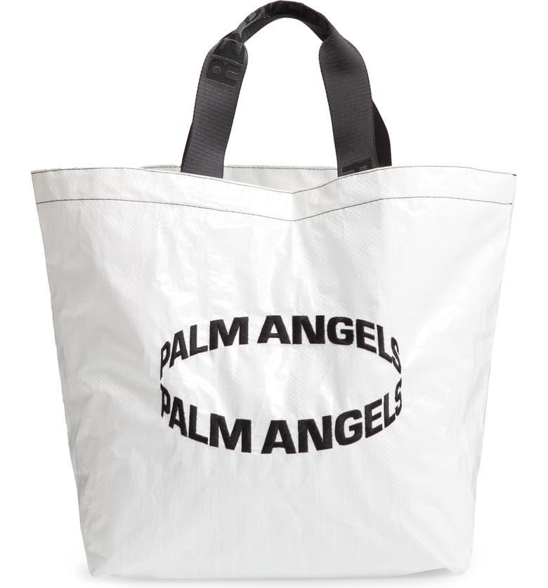 Palm Angels Bags HIGHEST LOGO SHOPPER - WHITE