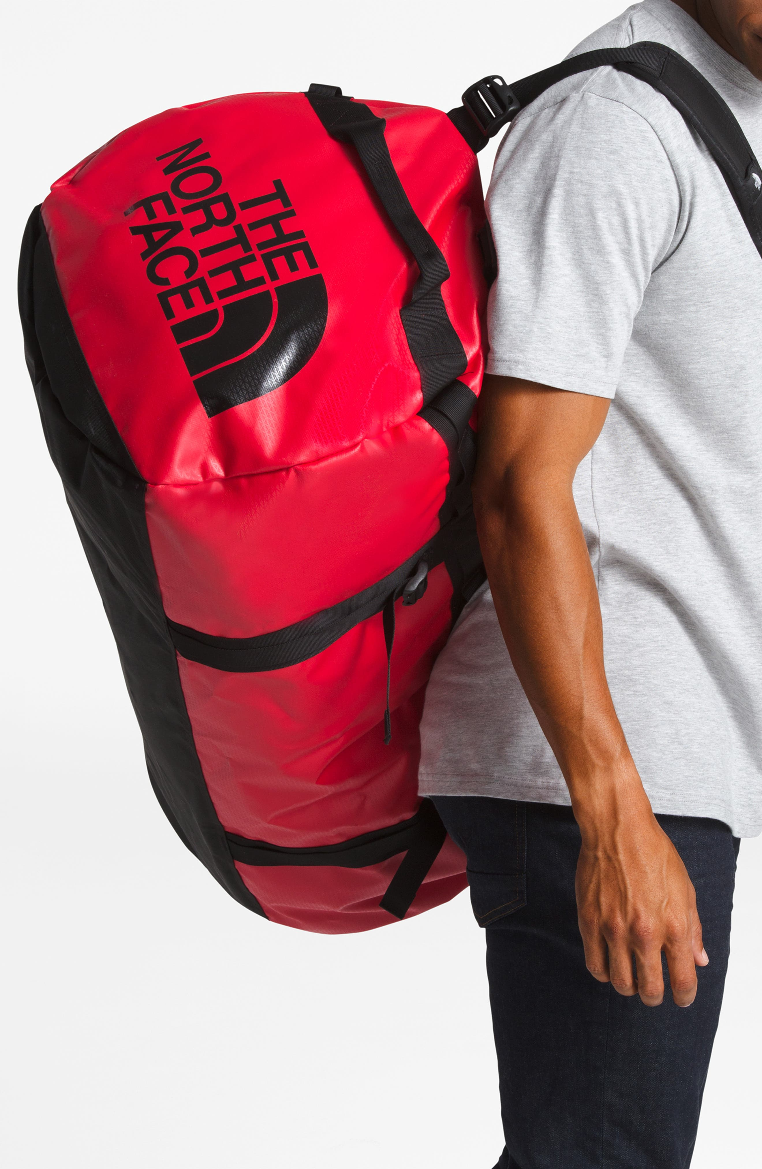 THE NORTH FACE, Base Camp XL Duffle Bag, Alternate thumbnail 2, color, RED/ BLACK