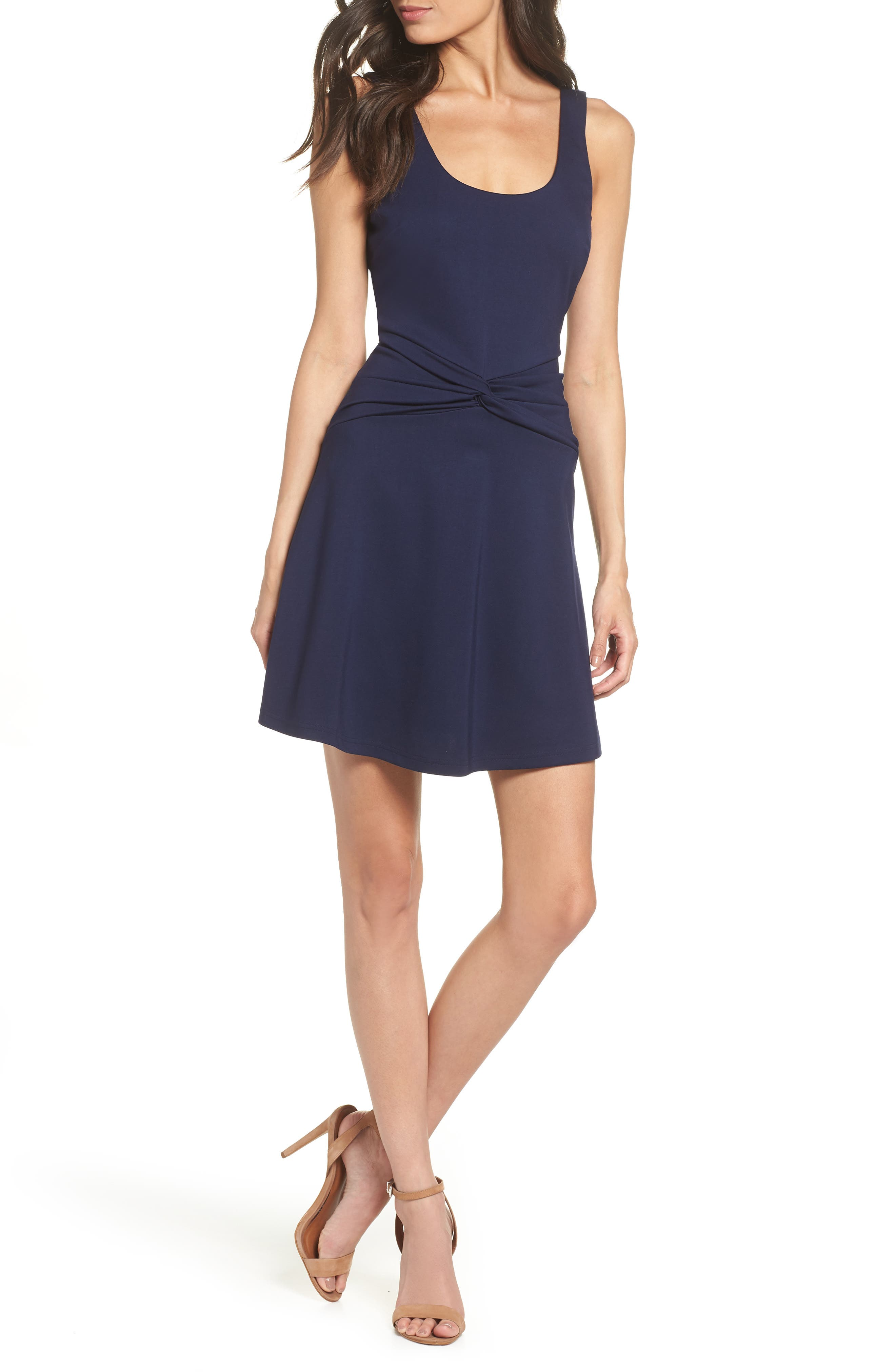 ALI & JAY Shake It Out Stretch Ponte Minidress, Main, color, NAVY