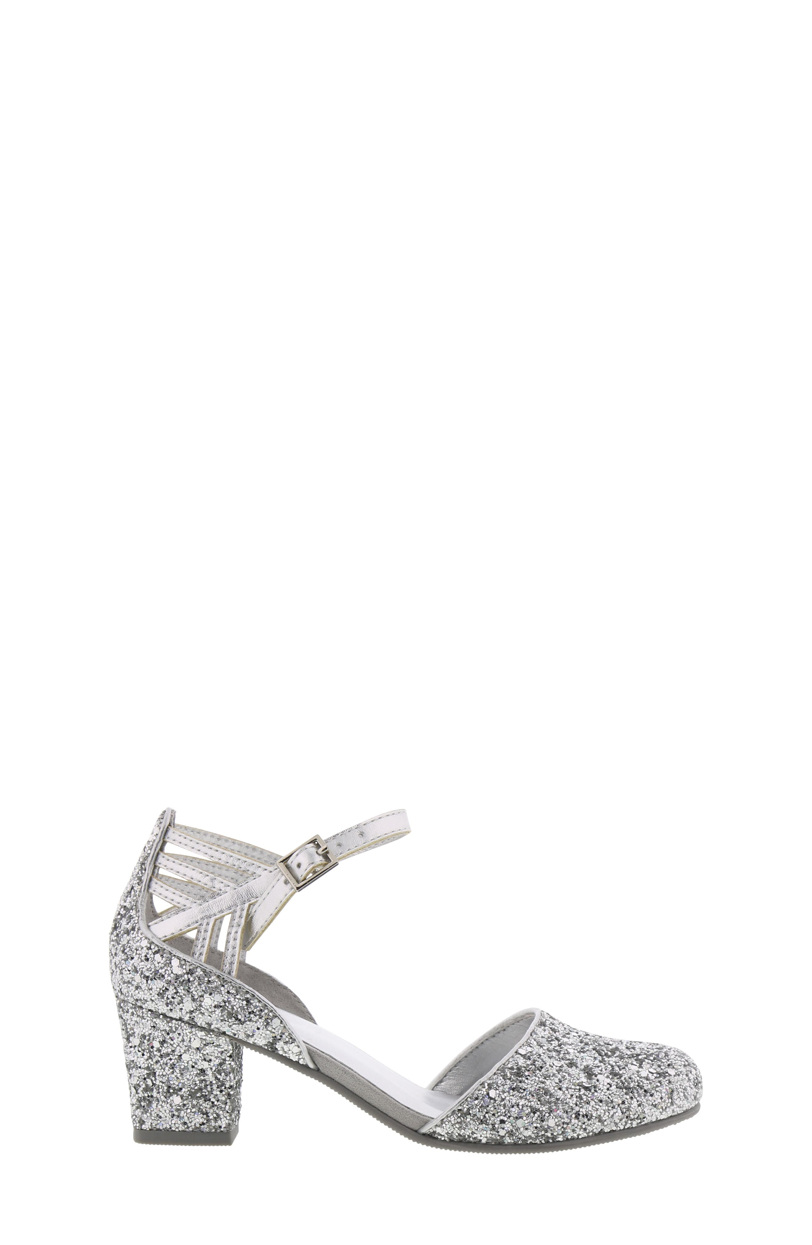 REACTION KENNETH COLE, Kenneth Cole New York Sarah Shine Pump, Alternate thumbnail 3, color, SILVER MULTI