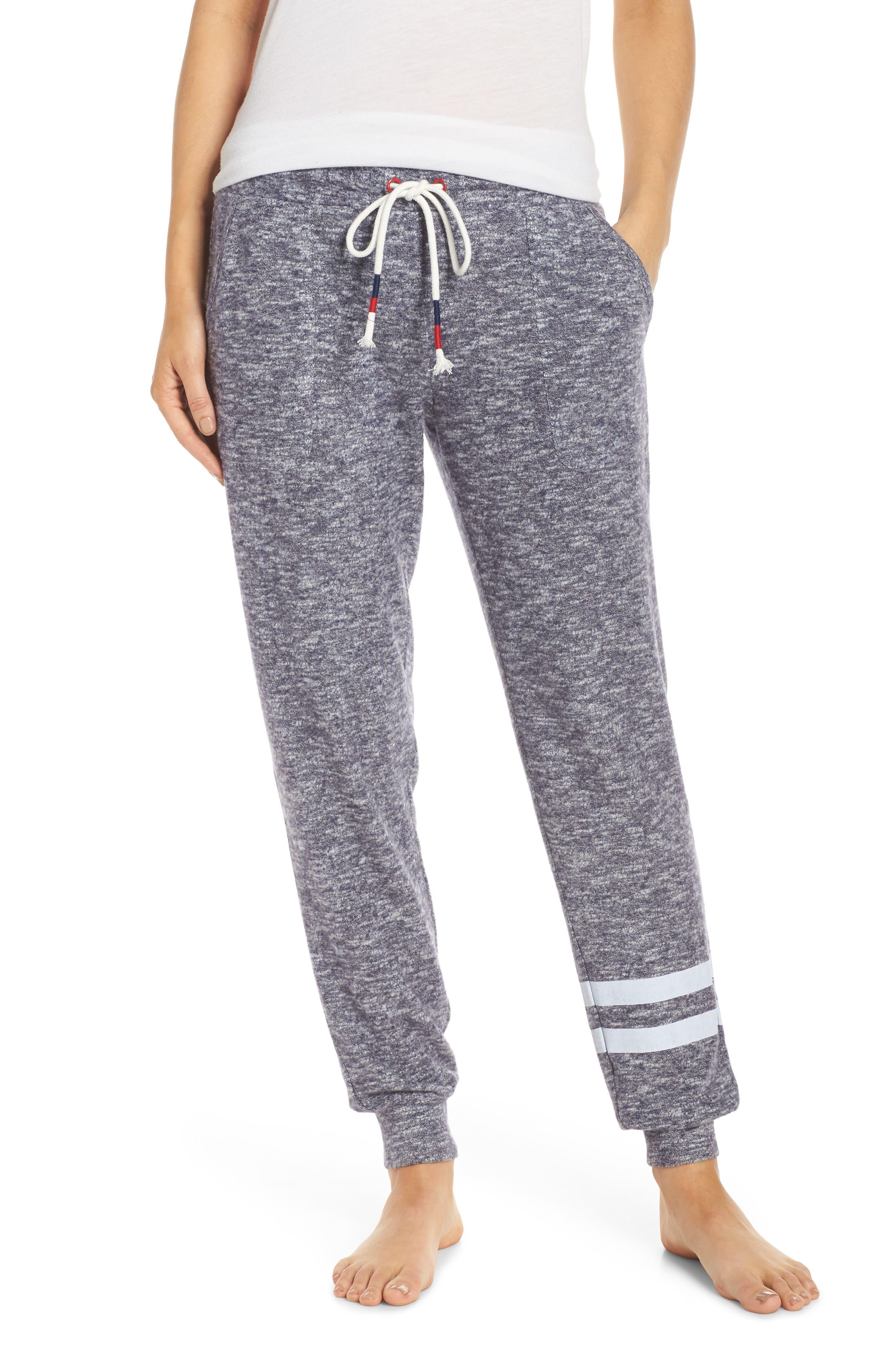 PJ SALVAGE Mon Cheri Sweatpants, Main, color, NAVY