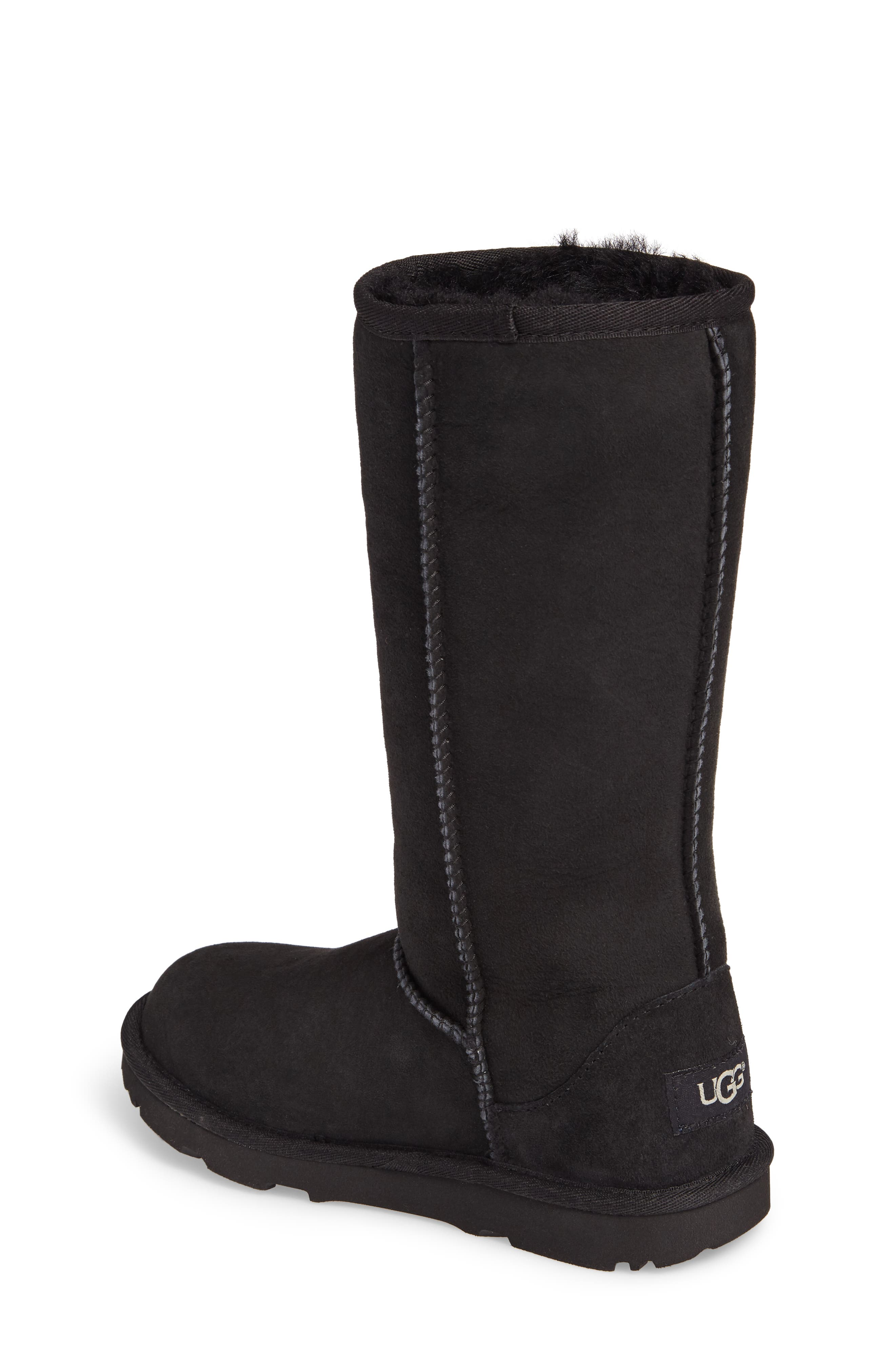 UGG<SUP>®</SUP>, Classic II Water-Resistant Tall Boot, Alternate thumbnail 2, color, BLACK