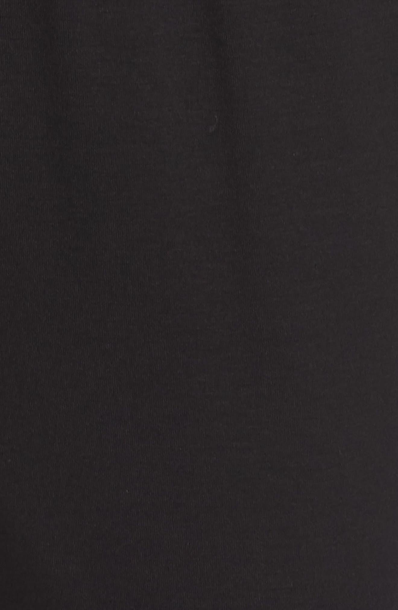 CHELSEA28, Faux Wrap Jumpsuit, Alternate thumbnail 6, color, BLACK