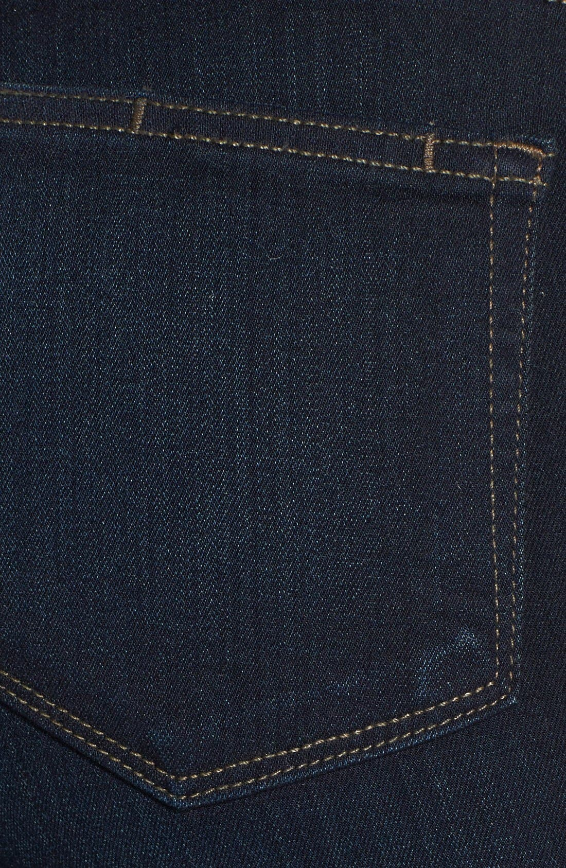 PAIGE, Transcend - Hoxton High Waist Ultra Skinny Jeans, Alternate thumbnail 6, color, MONA