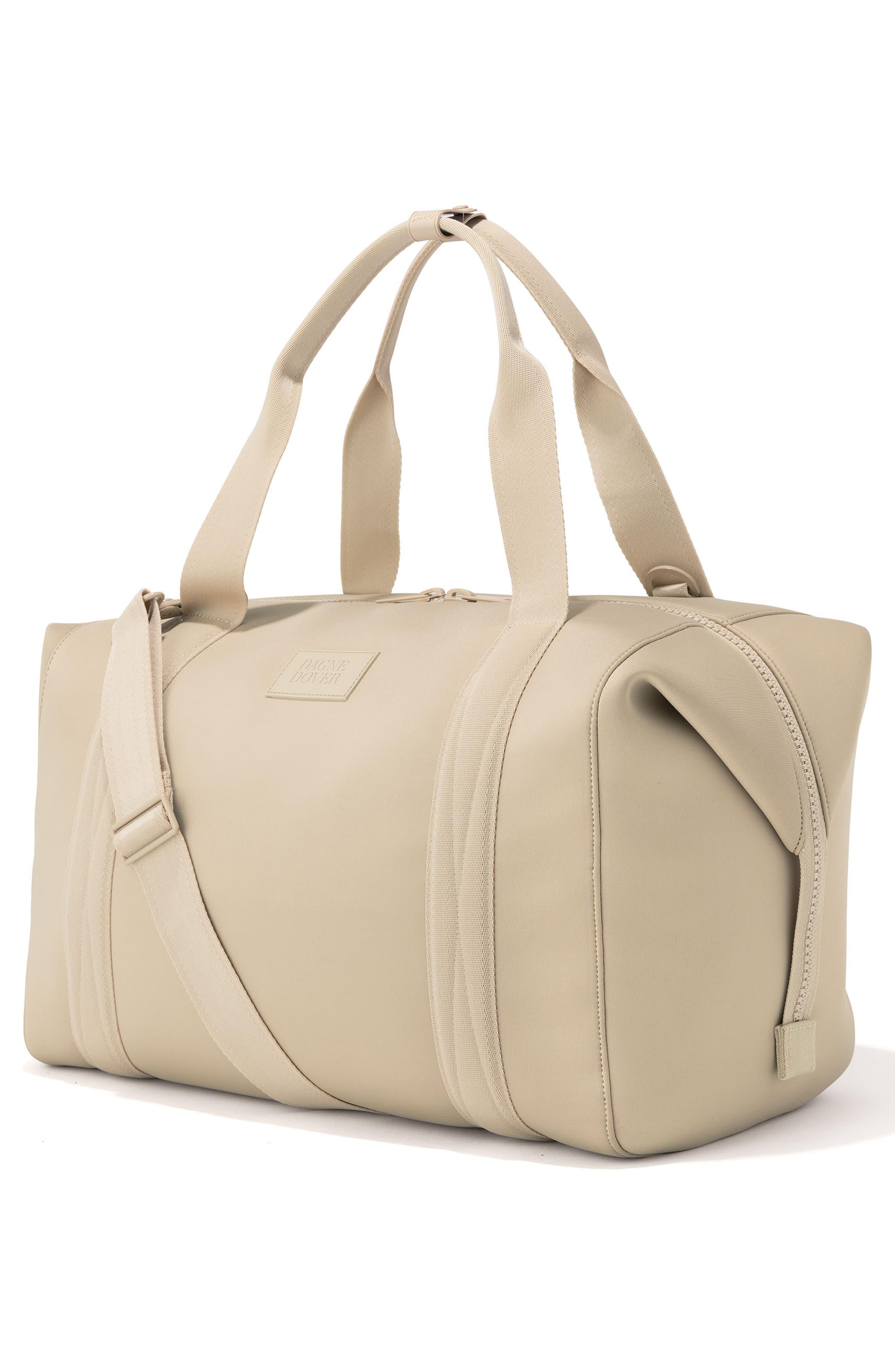 DAGNE DOVER, XL Landon Carryall Duffel Bag, Alternate thumbnail 4, color, ALMOND LATTE