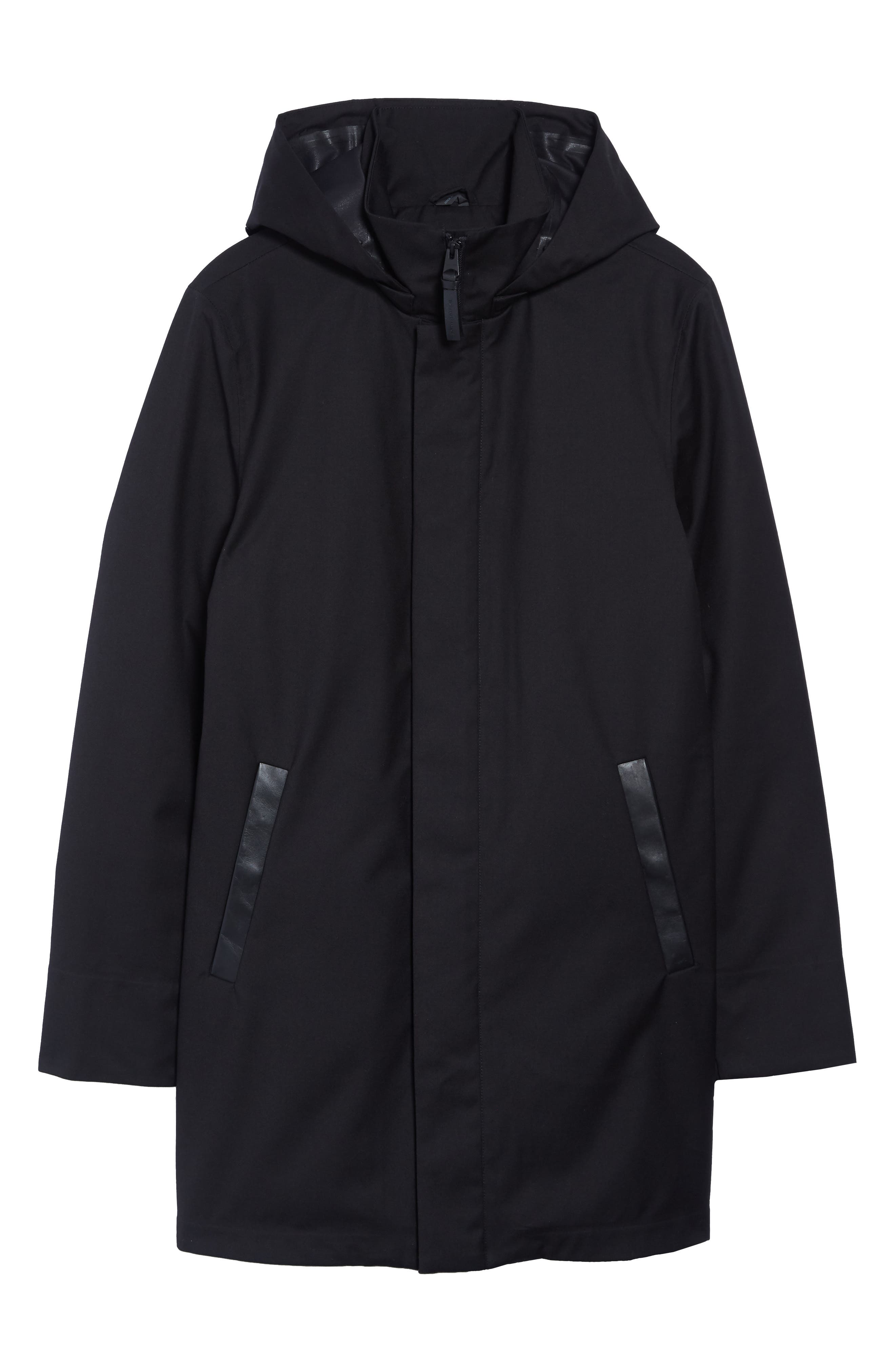 MACKAGE, Thorin-Z Jacket with Removable Down Lining, Alternate thumbnail 5, color, BLACK