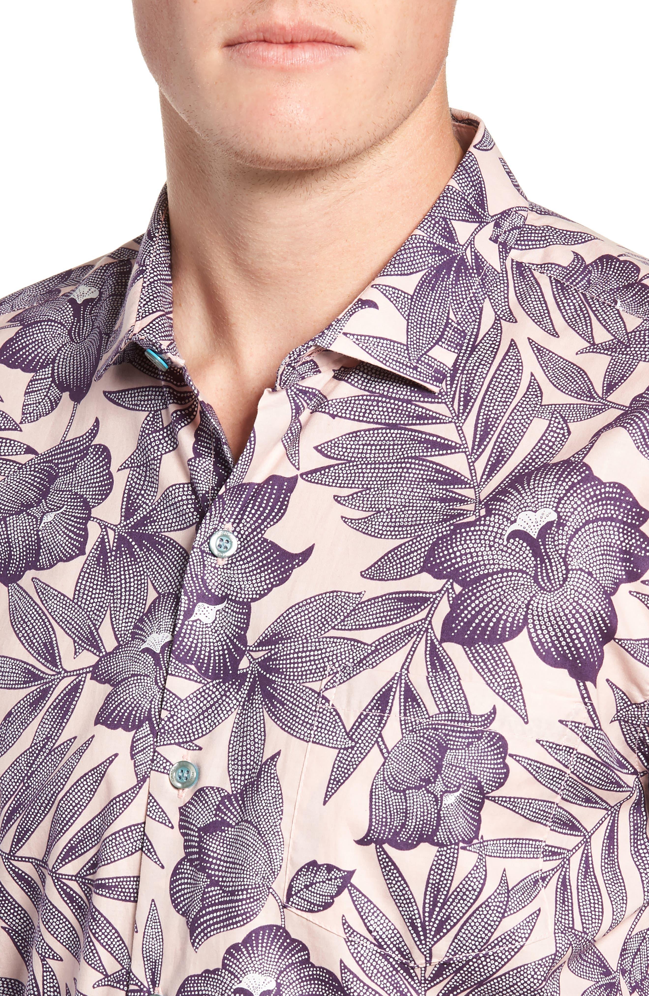 TORI RICHARD, Pollenesia Regular Fit Sport Shirt, Alternate thumbnail 2, color, PINK