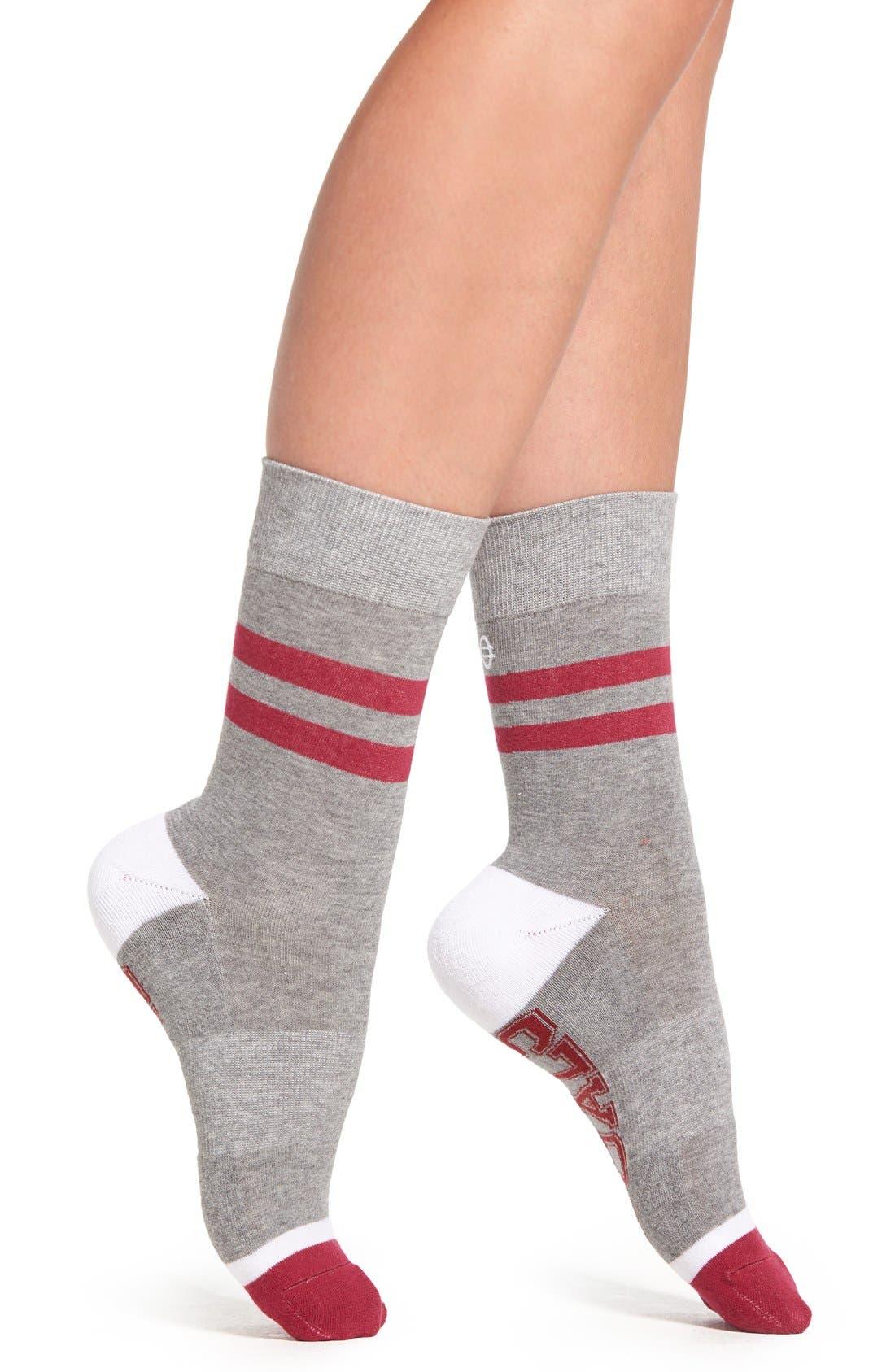 SOCKART, 'Squad Goals' Crew Socks, Alternate thumbnail 3, color, 060