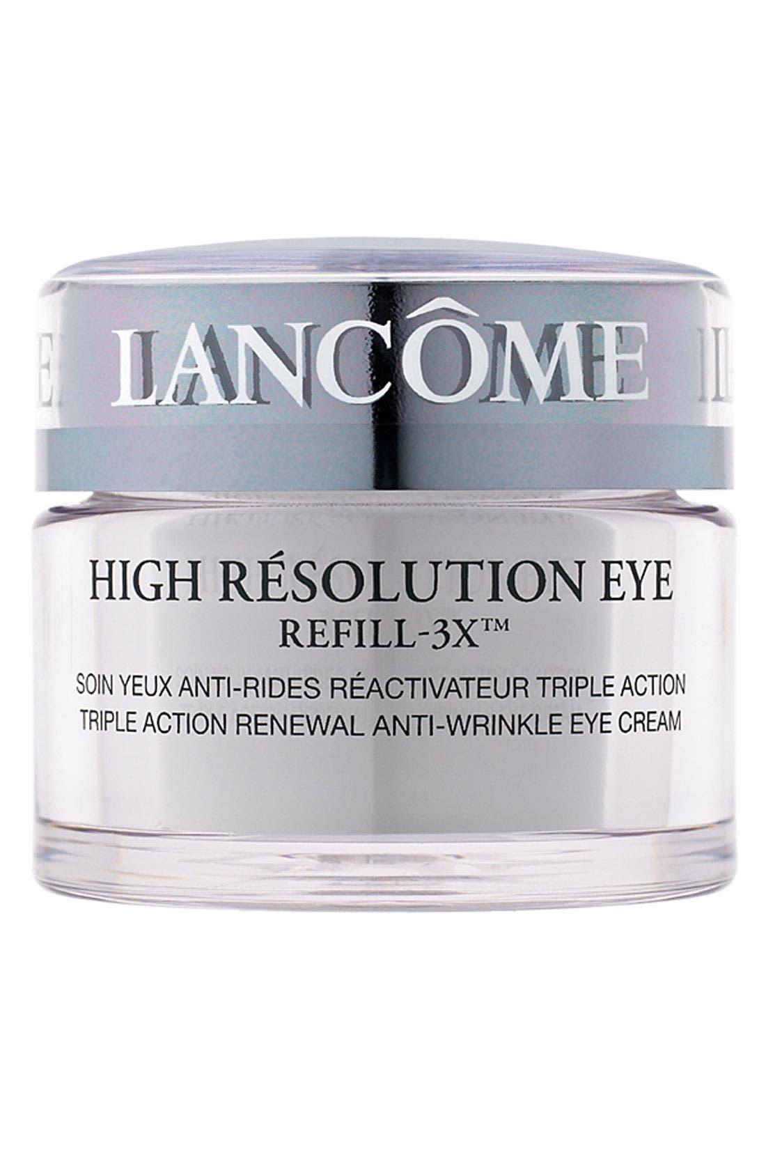LANCÔME, High Résolution Refill-3X Anti-Wrinkle Eye Cream, Main thumbnail 1, color, NO COLOR